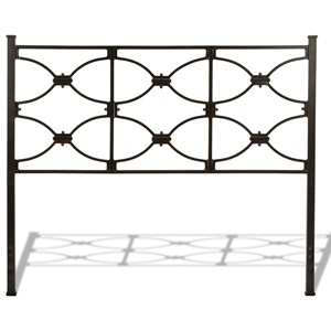 Full Marlo Metal Headboard Panel with Squared Finial Posts