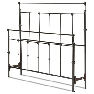 Winslow Twin Bed with Metal Panels and Aluminum Castings
