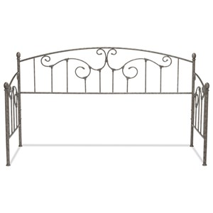 Hinsdale Metal Daybed with Sloping Rails and Vertical Spindles with Antique Pewter Finish