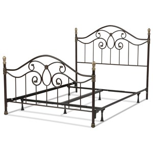 Queen Dynasty Metal Bed w/ Frame