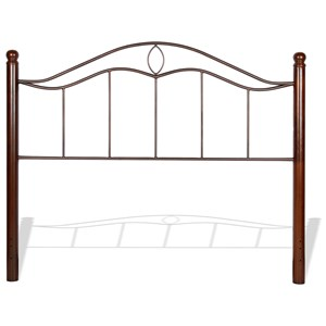 Queen Transitional Cassidy Metal Headboard