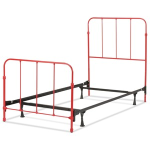 Nolan Twin Complete Kids Bed with Metal Duo Panels
