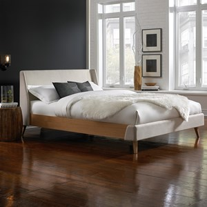 Palmer California King Platform Bed with Upholstered Exterior