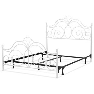 Rhapsody Full Bed with Curved Grill Design and Finial Posts