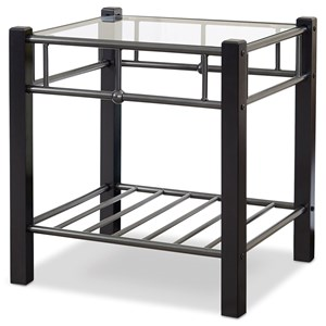 Scottsdale Nightstand with Glass Surface