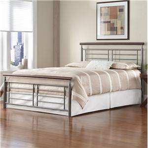 Fashion Bed Group Wood and Metal Beds King Fontane Bed