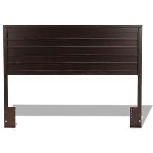 Uptown Wooden Headboard Panel with Horizontal Board Design with Espresso Finish