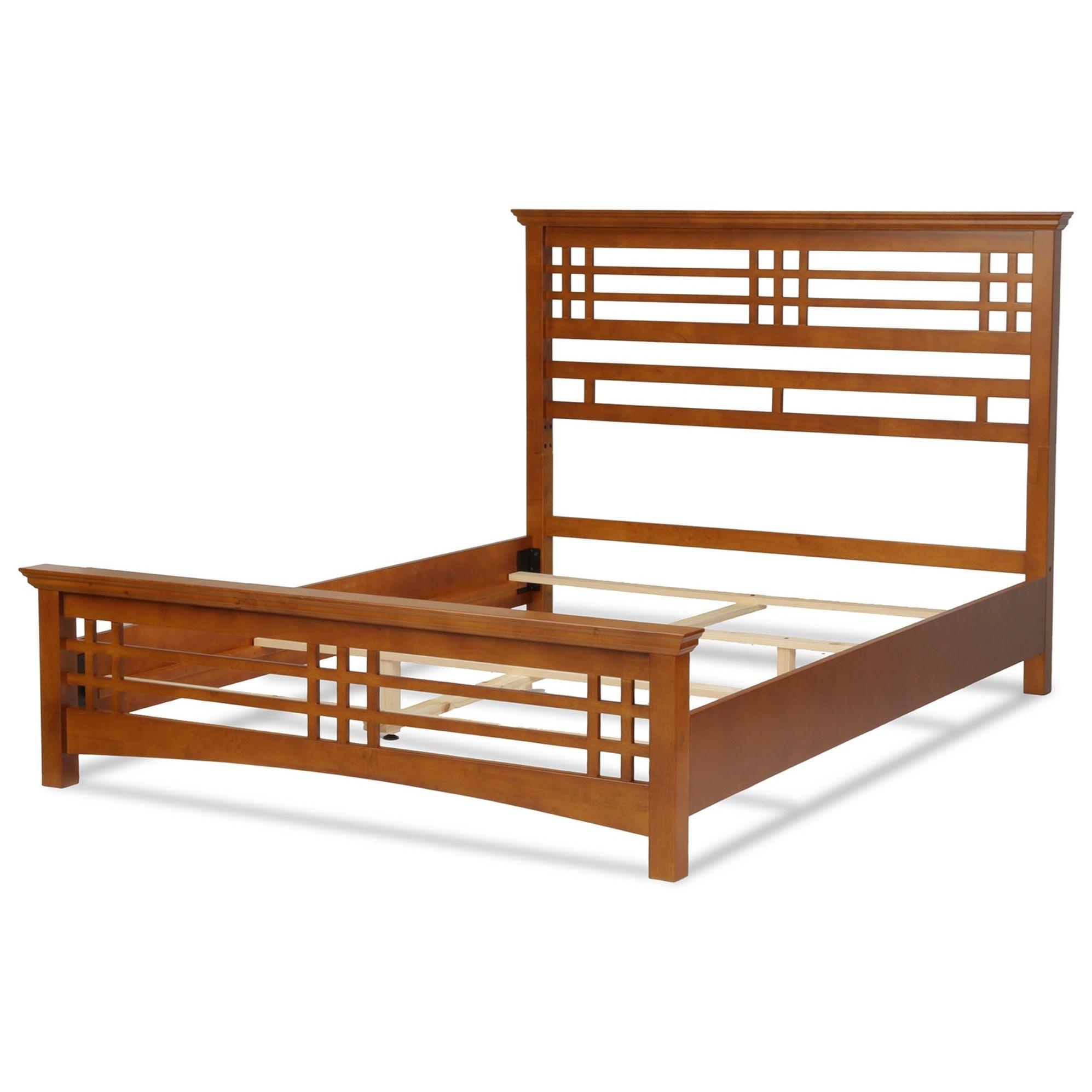 Wood Avery Cal King Bed by Fashion Bed Group at SlumberWorld
