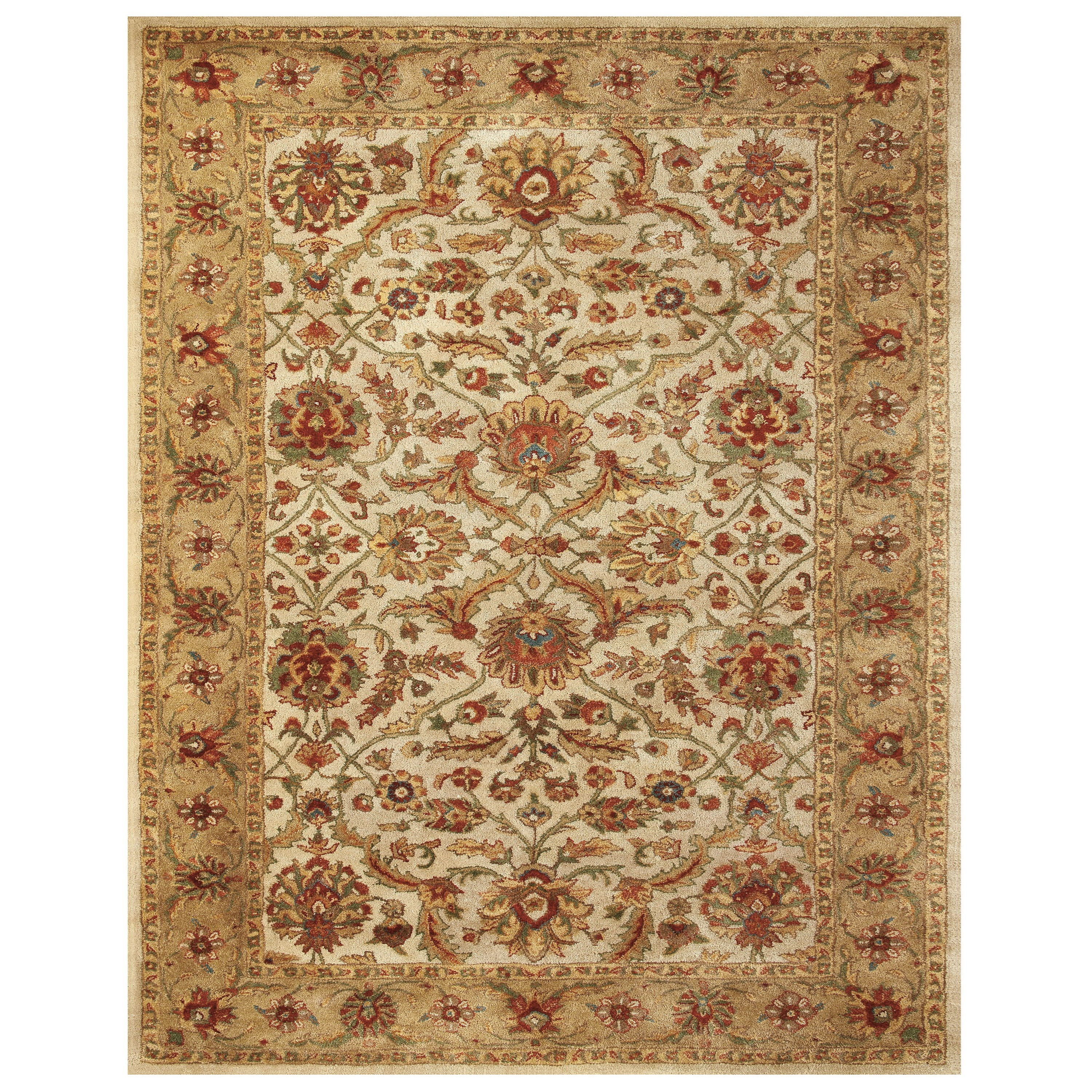 "Alexandra Ivory/Light Gold 3'-6"" x 5'-6"" Area Rug by Feizy Rugs at Sprintz Furniture"
