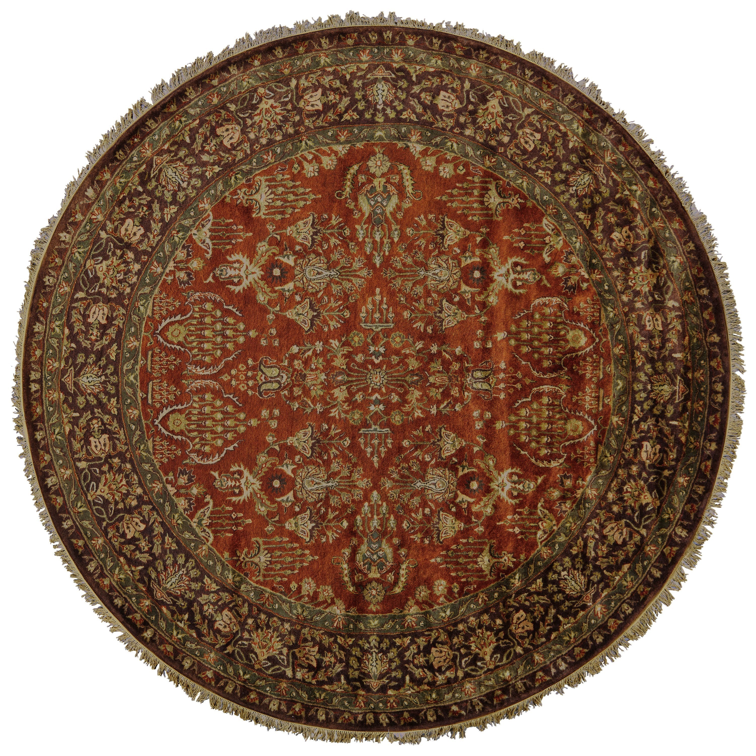 Amore Cinnamon/Plum 8' x 8' Round Area Rug by Feizy Rugs at Sprintz Furniture