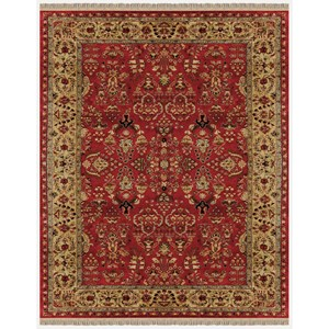 Red/Light Gold 2' x 3' Area Rug