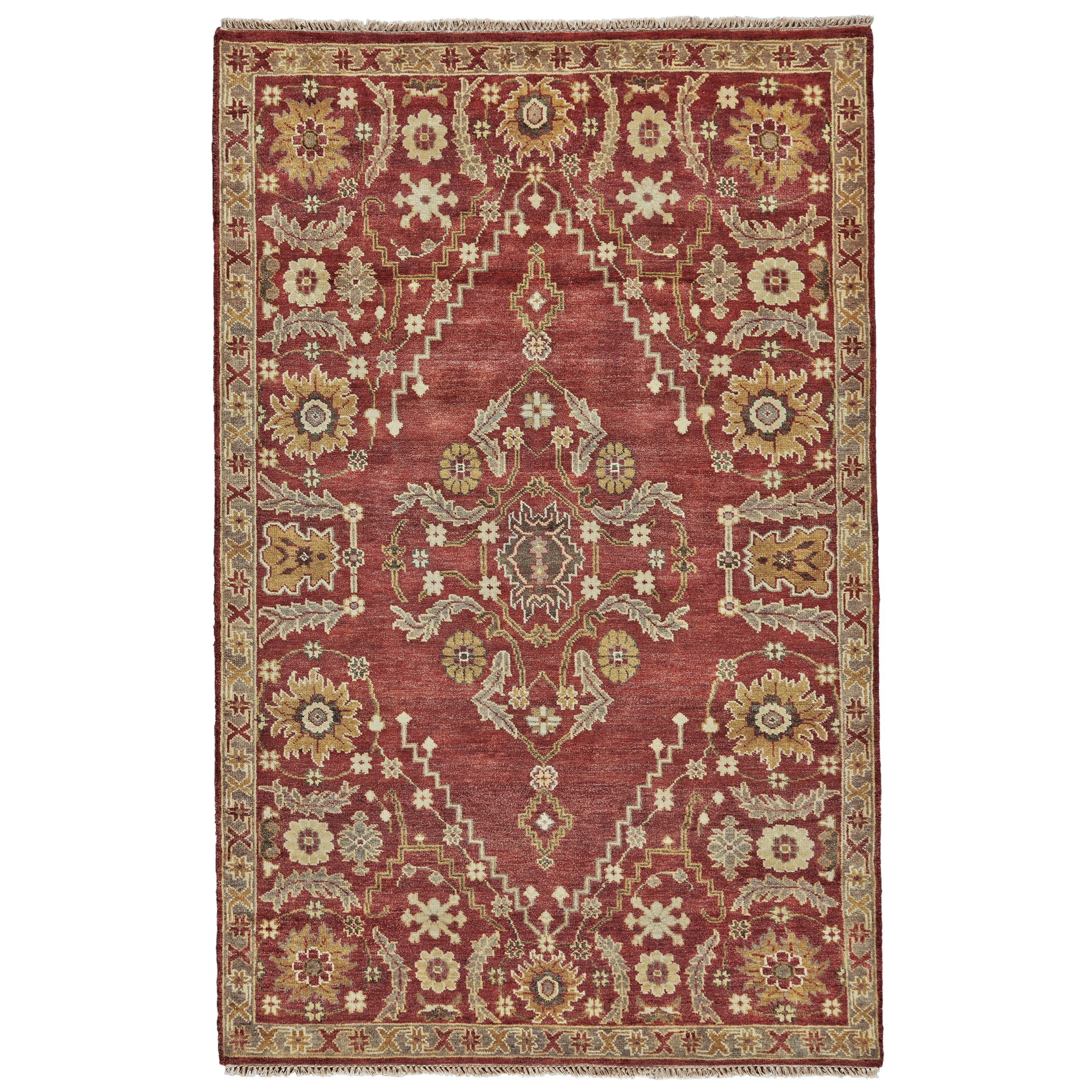 Ashi Rust 2' x 3' Area Rug by Feizy Rugs at Sprintz Furniture