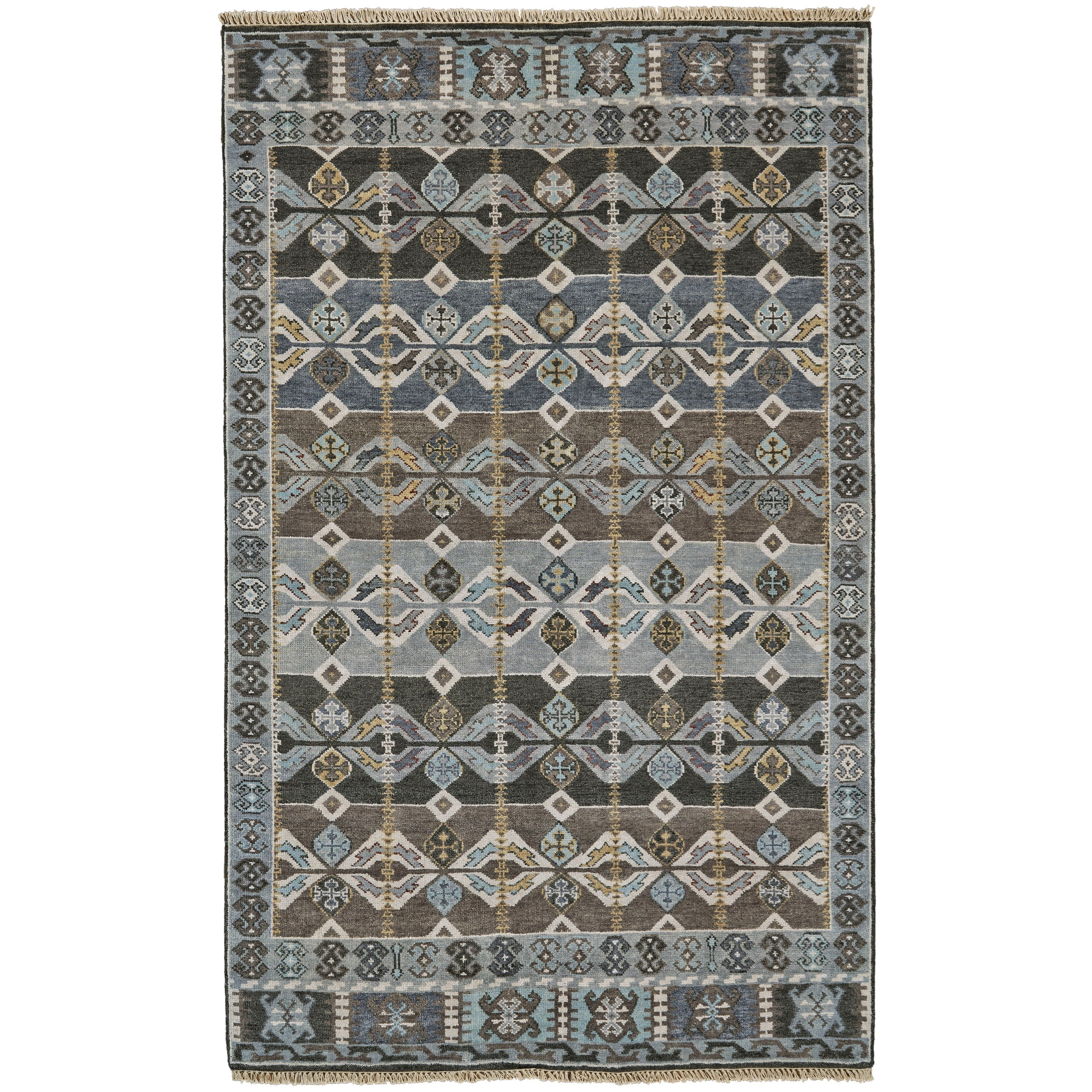 """Ashi Steel 8'-6"""" x 11'-6"""" Area Rug by Feizy Rugs at Sprintz Furniture"""