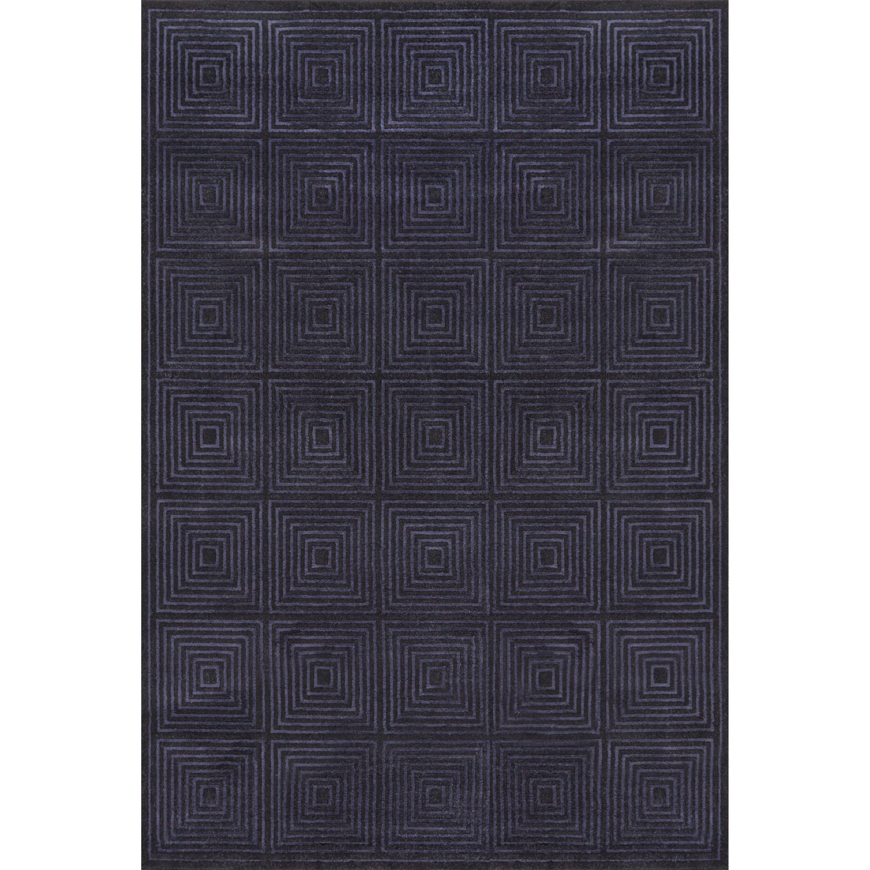 """Azeri Black/Charcoal 7'-10"""" x 11' Area Rug by Feizy Rugs at Sprintz Furniture"""