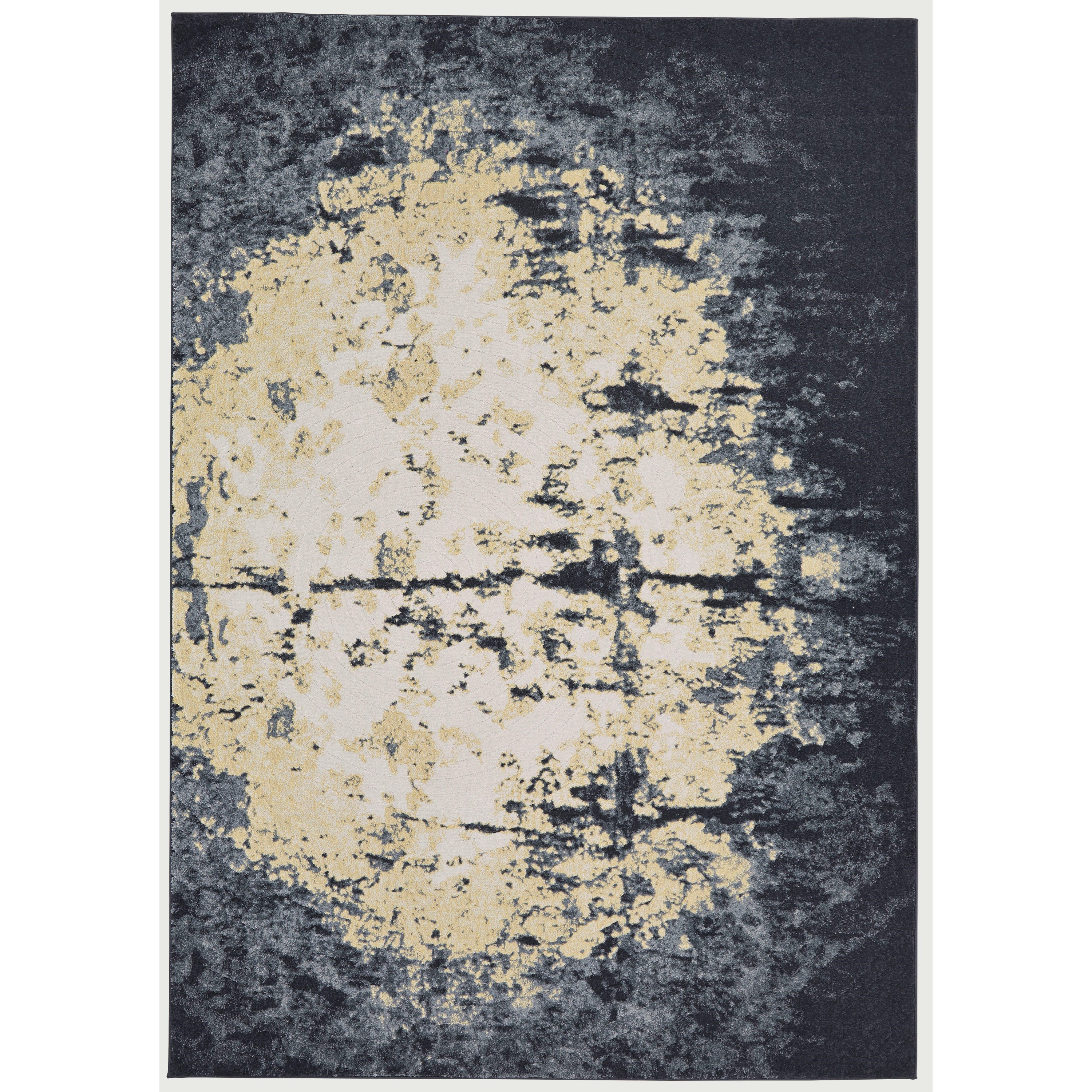 Bleecker Charcoal 5' x 8' Area Rug by Feizy Rugs at Sprintz Furniture