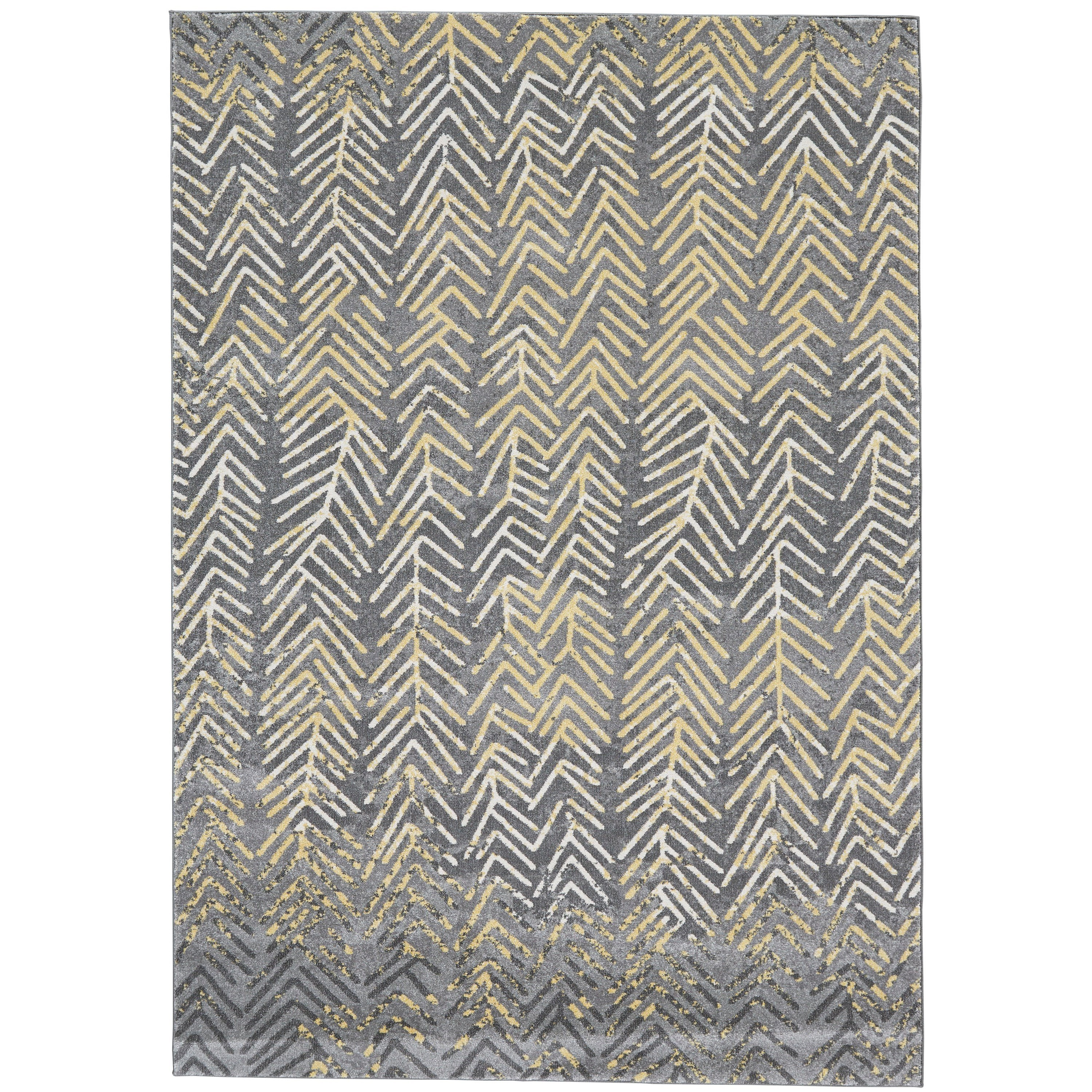 """Bleecker Granite 2'-2"""" x 4' Area Rug by Feizy Rugs at Sprintz Furniture"""
