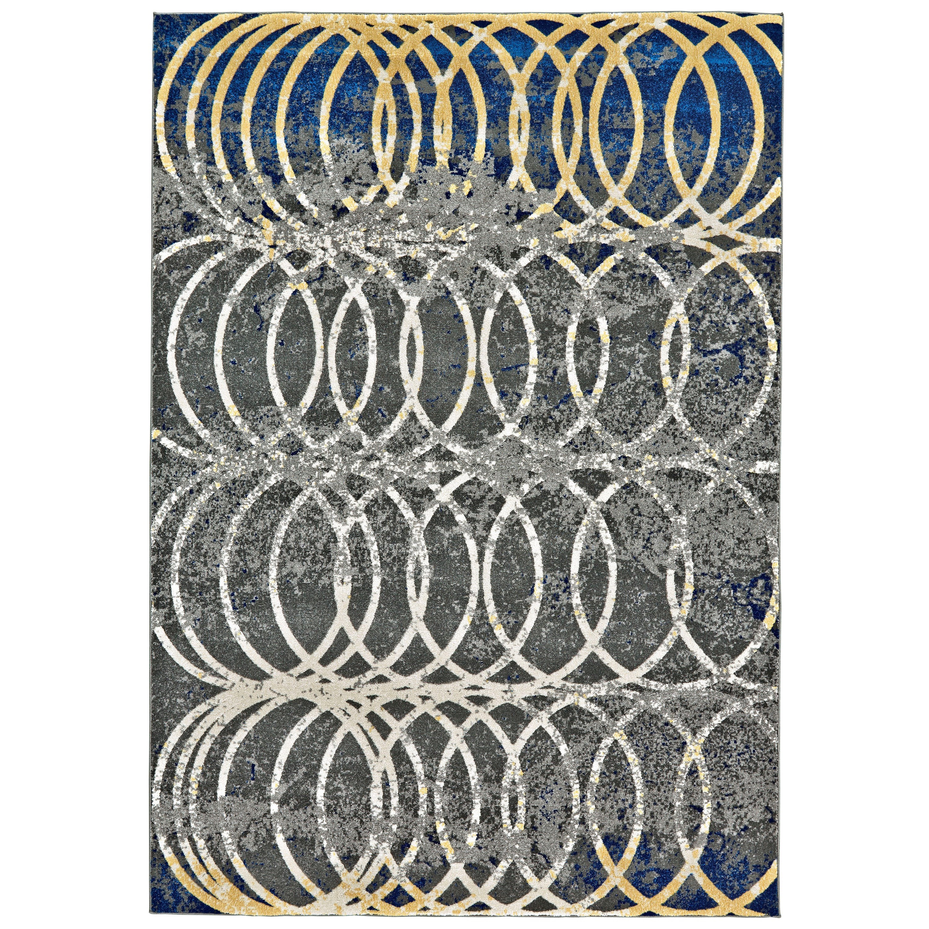 Brixton Smoke 5' x 8' Area Rug by Feizy Rugs at Sprintz Furniture