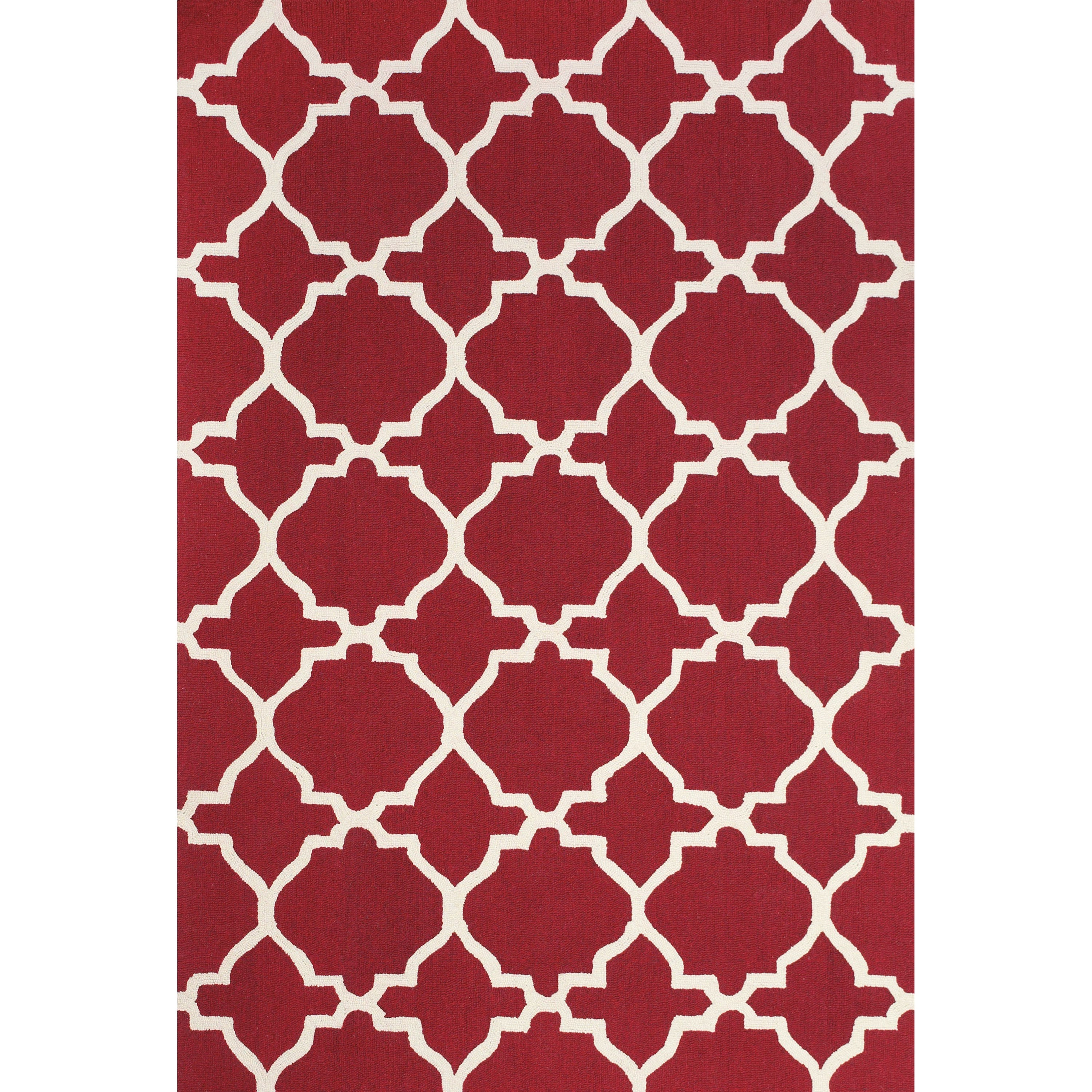 Cetara Red/White 2' x 3' Area Rug by Feizy Rugs at Jacksonville Furniture Mart
