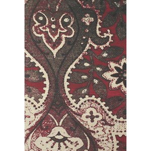 Black/Red 4' x 6' Area Rug