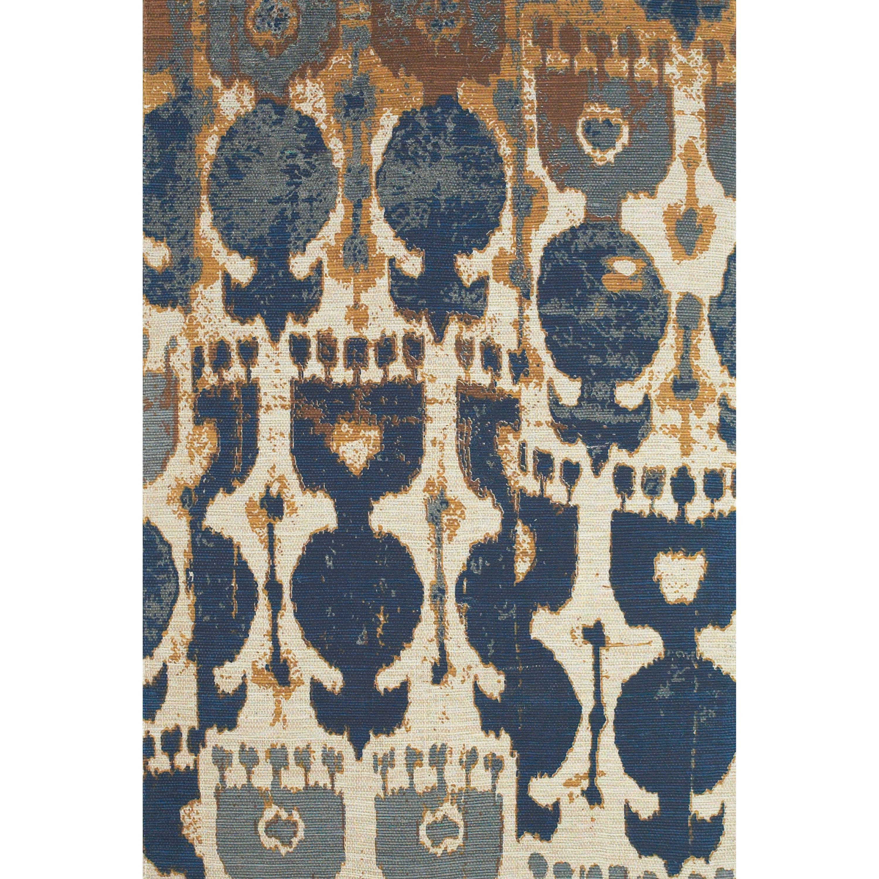 Coronado Navy/Copper 4' x 6' Area Rug by Feizy Rugs at Sprintz Furniture
