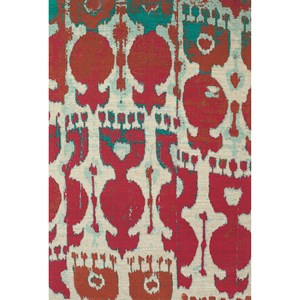Red/Teal 5' x 8' Area Rug