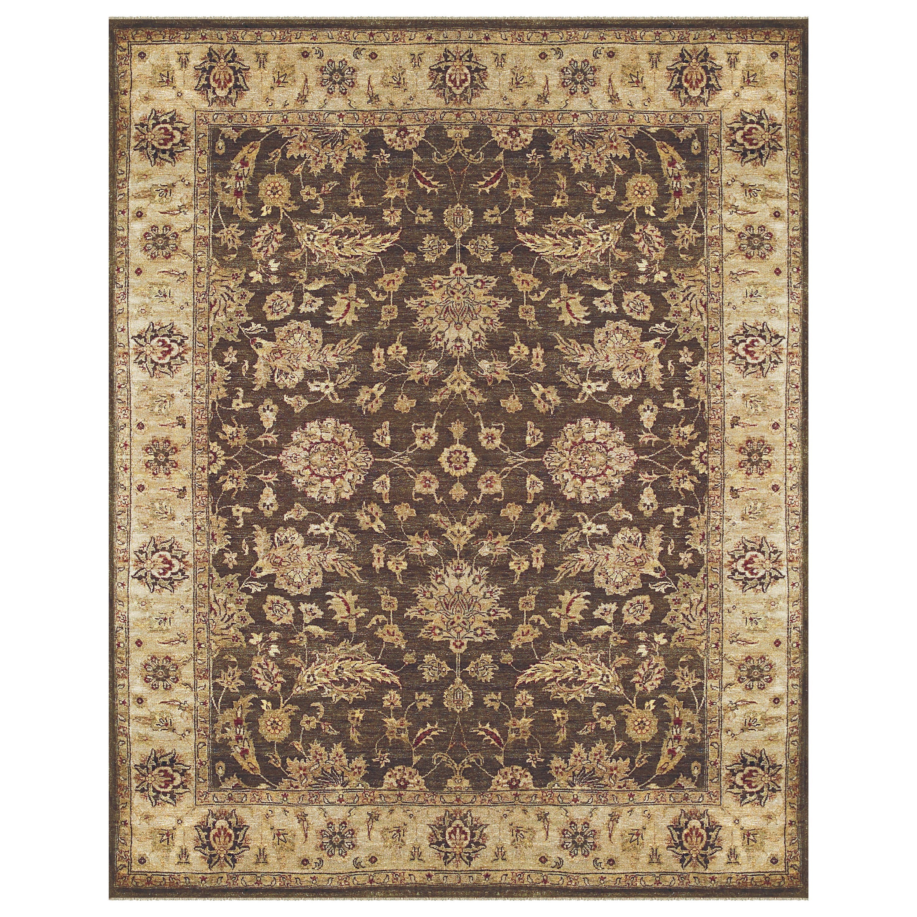 Drake Brown/Beige 4' x 6' Area Rug by Feizy Rugs at Sprintz Furniture