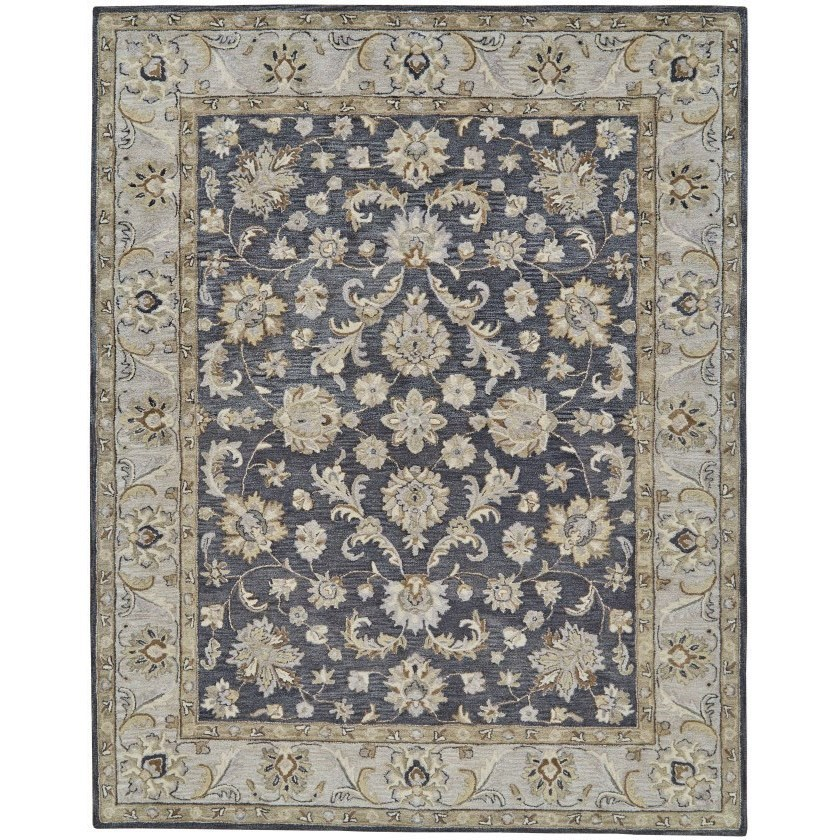 """Eaton Charcoal 3'-6"""" x 5'-6"""" Area Rug by Feizy Rugs at Sprintz Furniture"""
