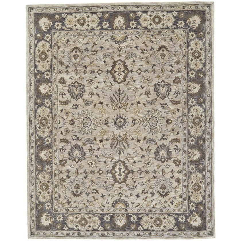 """Eaton Gray 9'-6"""" x 13'-6"""" Area Rug by Feizy Rugs at Sprintz Furniture"""