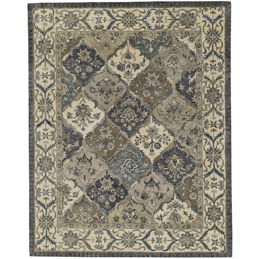 """Eaton Multi 9'-6"""" x 13'-6"""" Area Rug by Feizy Rugs at Sprintz Furniture"""