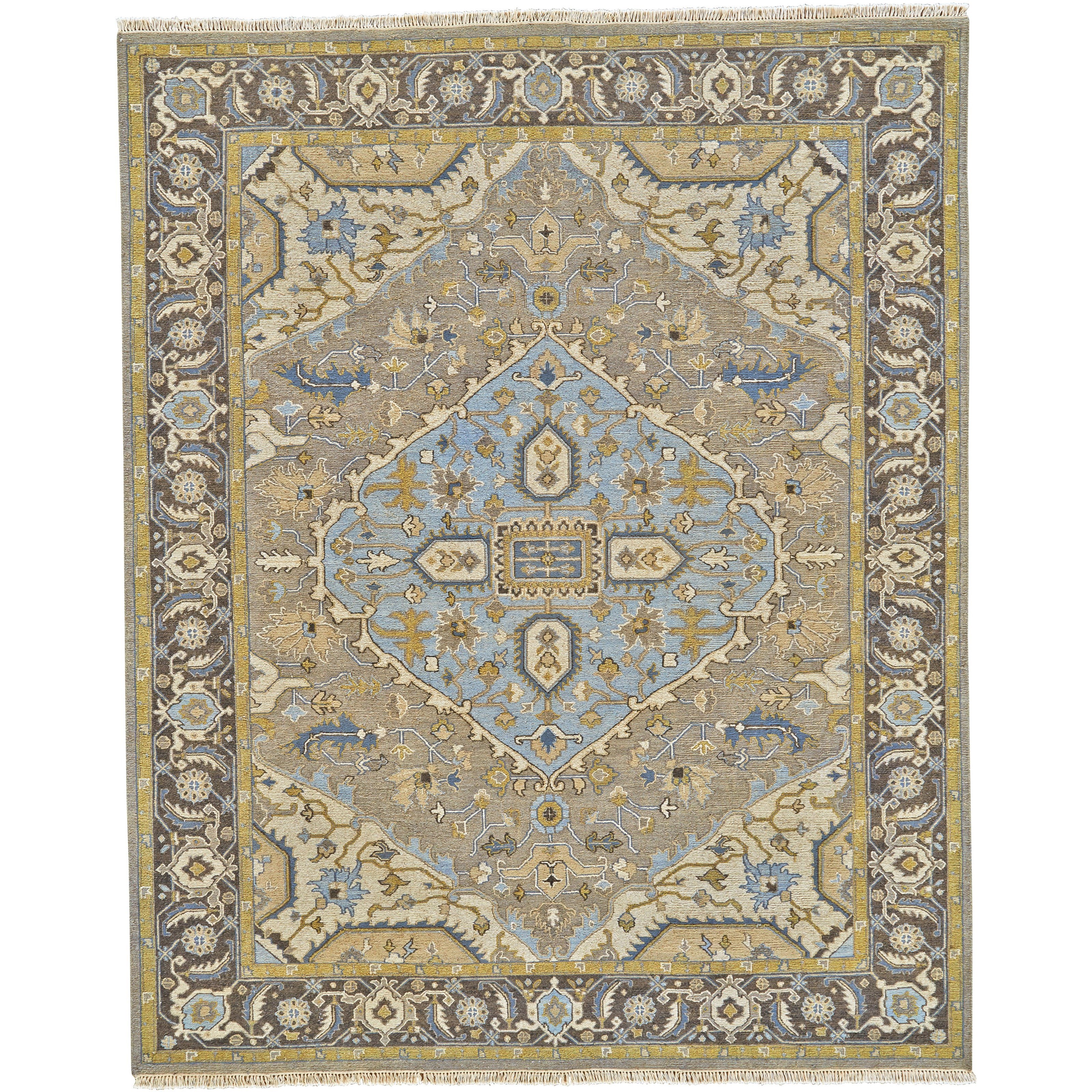 """Goshen Dark Gray/Charcoal 5'-6"""" x 8'-6"""" Area Rug by Feizy Rugs at Sprintz Furniture"""