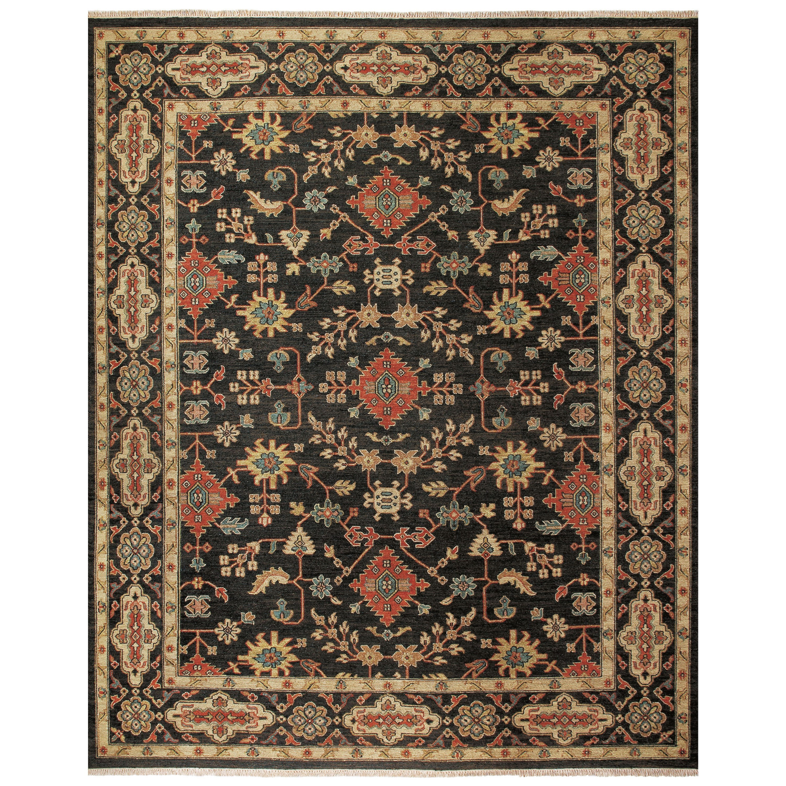 "Goshen Black/Black 5'-6"" x 8'-6"" Area Rug by Feizy Rugs at Sprintz Furniture"