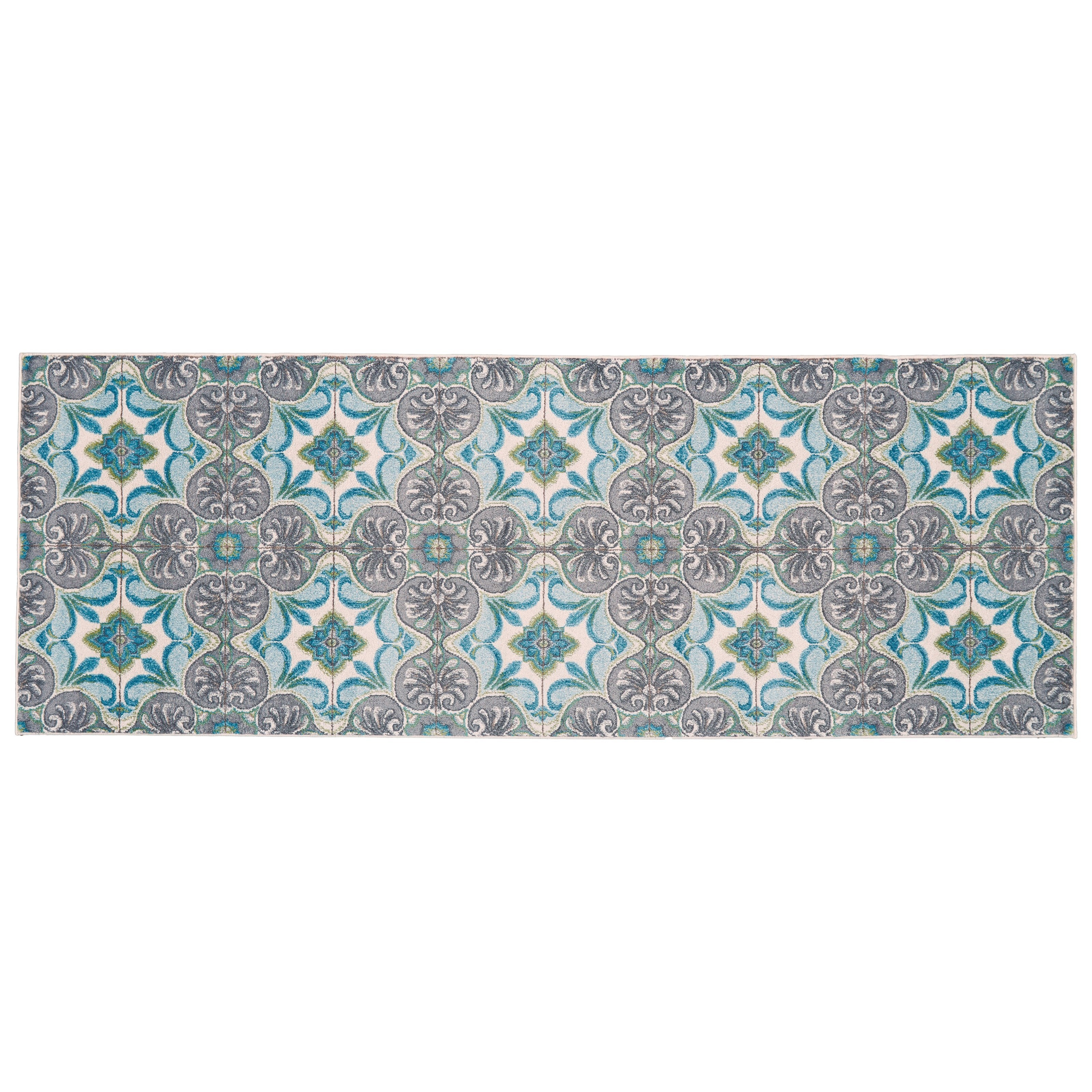 """Harlow Sea Glass 2'-10"""" X 7'-10"""" Runner Rug by Feizy Rugs at Sprintz Furniture"""