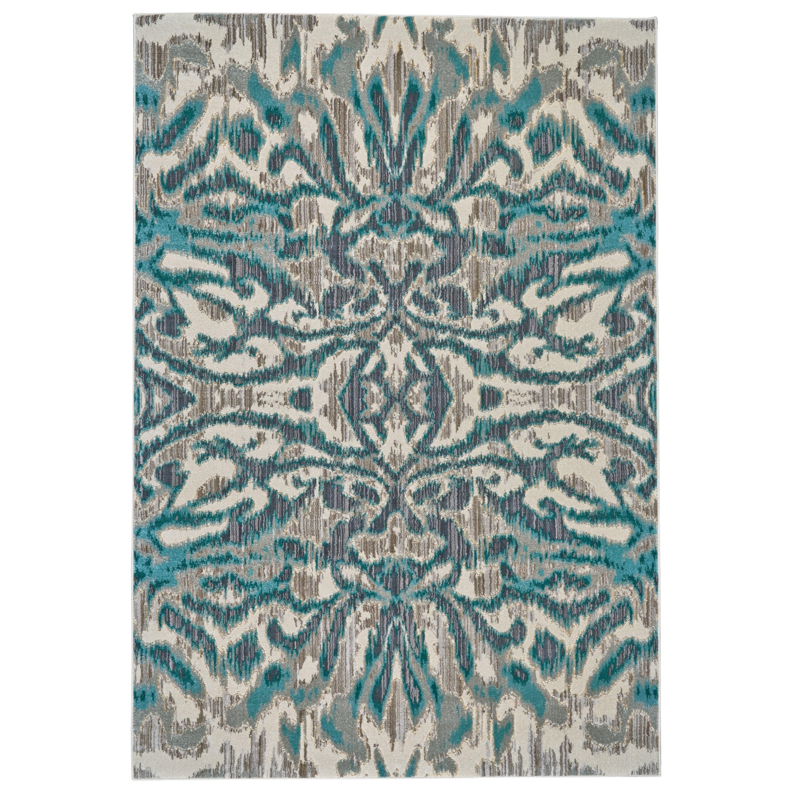 "Keats Aqua/Haze 2'-2"" x 4' Area Rug by Feizy Rugs at Sprintz Furniture"