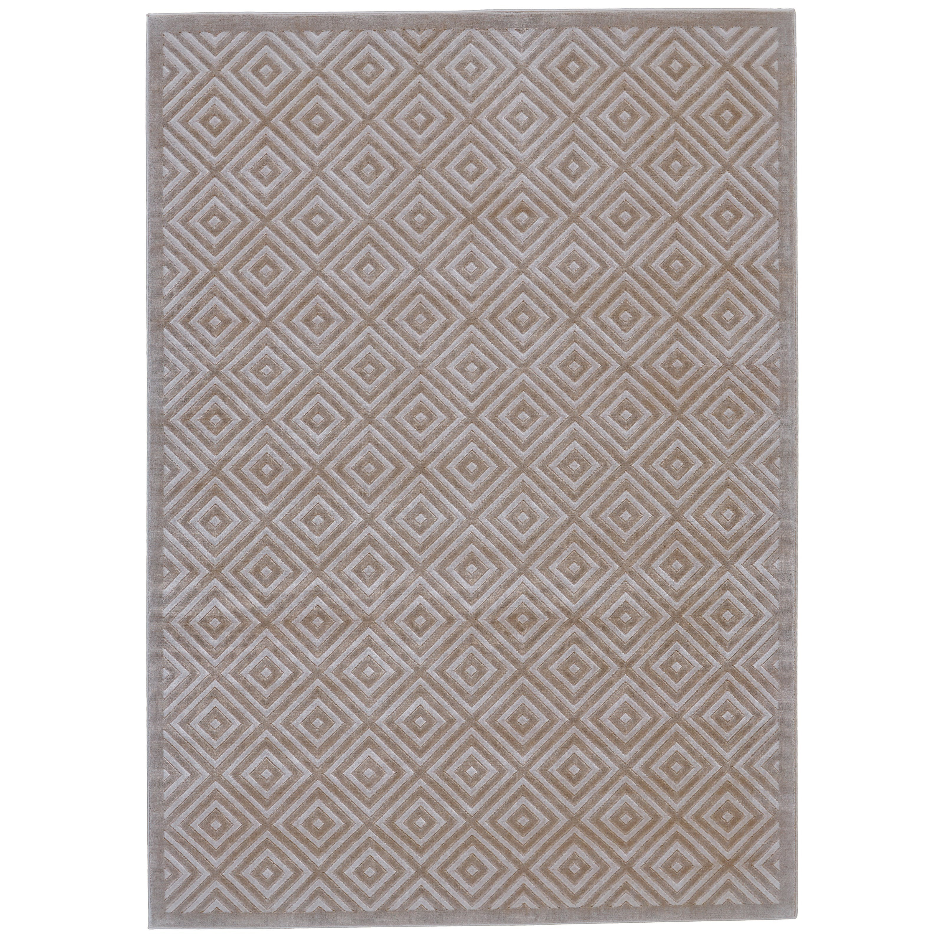 """Melina Birch/Taupe 2'-2"""" x 4' Area Rug by Feizy Rugs at Jacksonville Furniture Mart"""