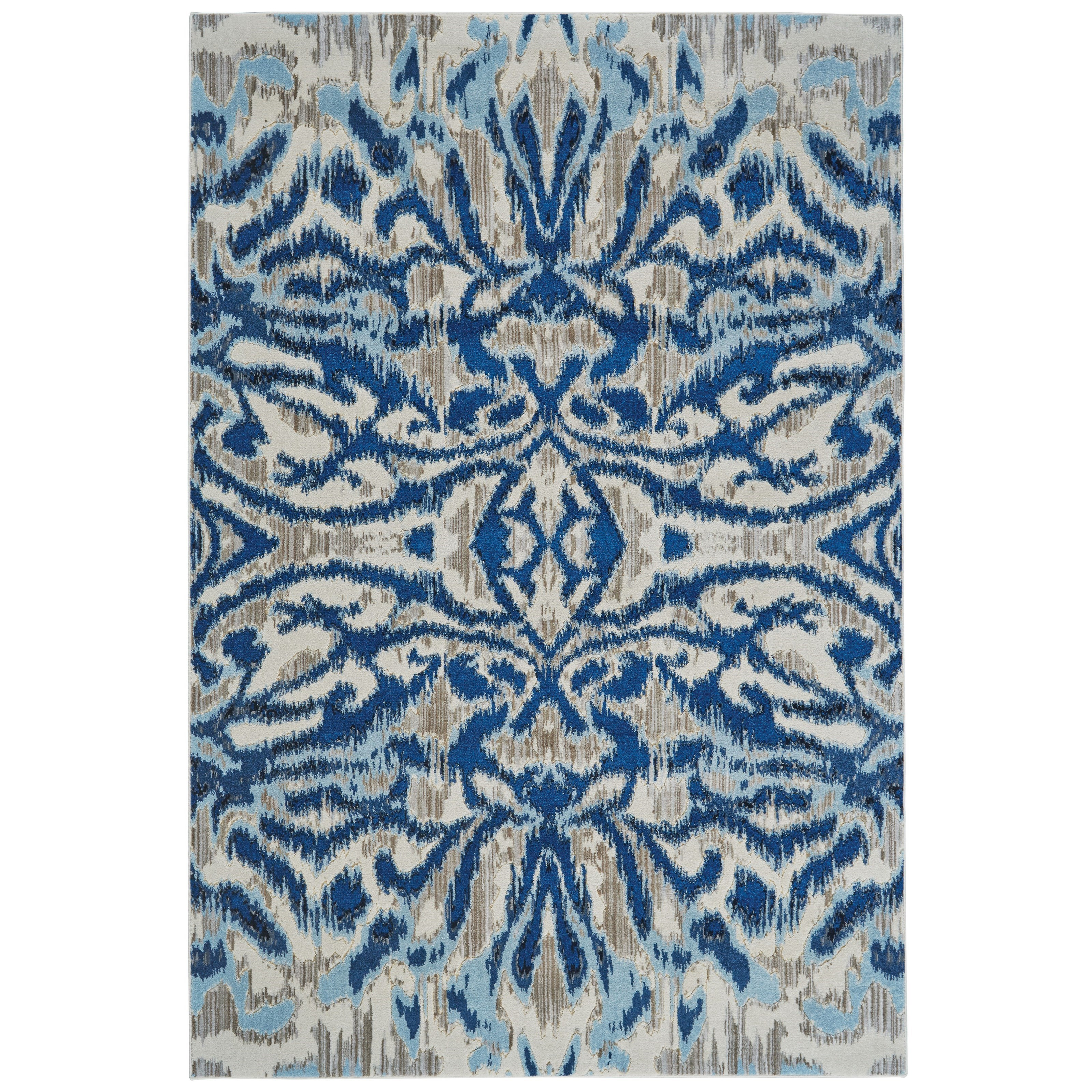 """Milton Blue Haze 2'-2"""" x 4' Area Rug by Feizy Rugs at Jacksonville Furniture Mart"""