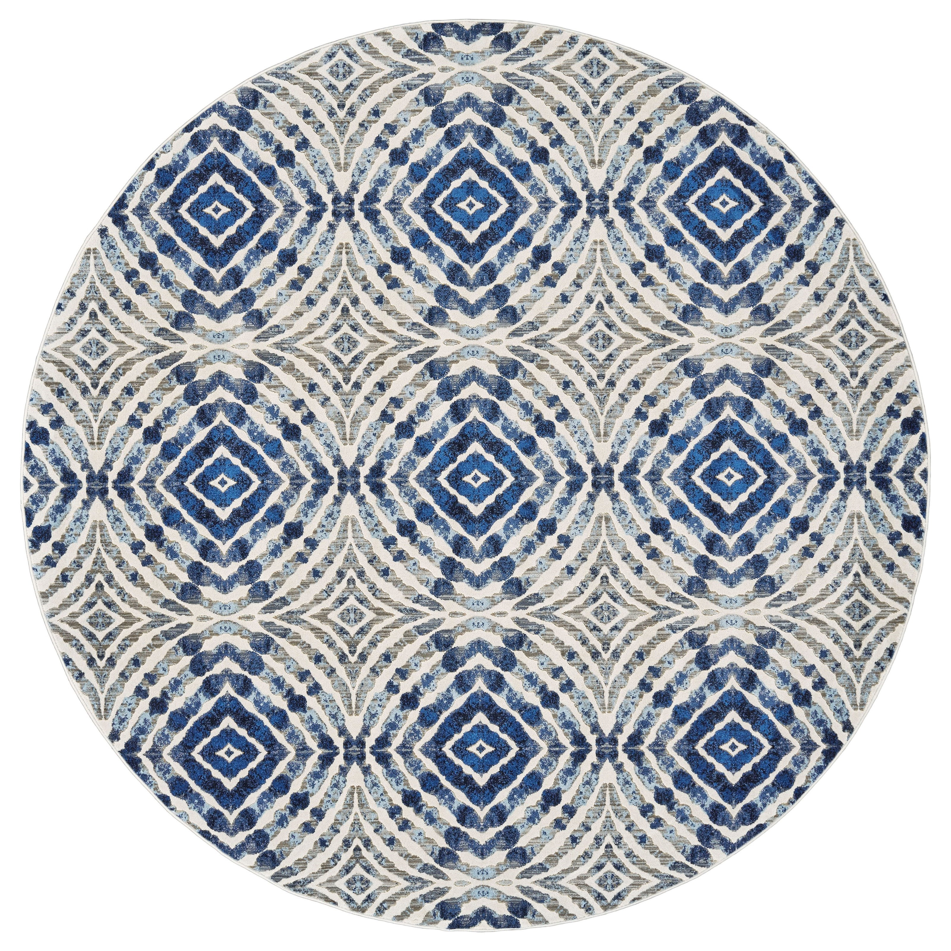 """Milton Dusk 8'-9"""" X 8'-9"""" Round Area Rug by Feizy Rugs at Jacksonville Furniture Mart"""