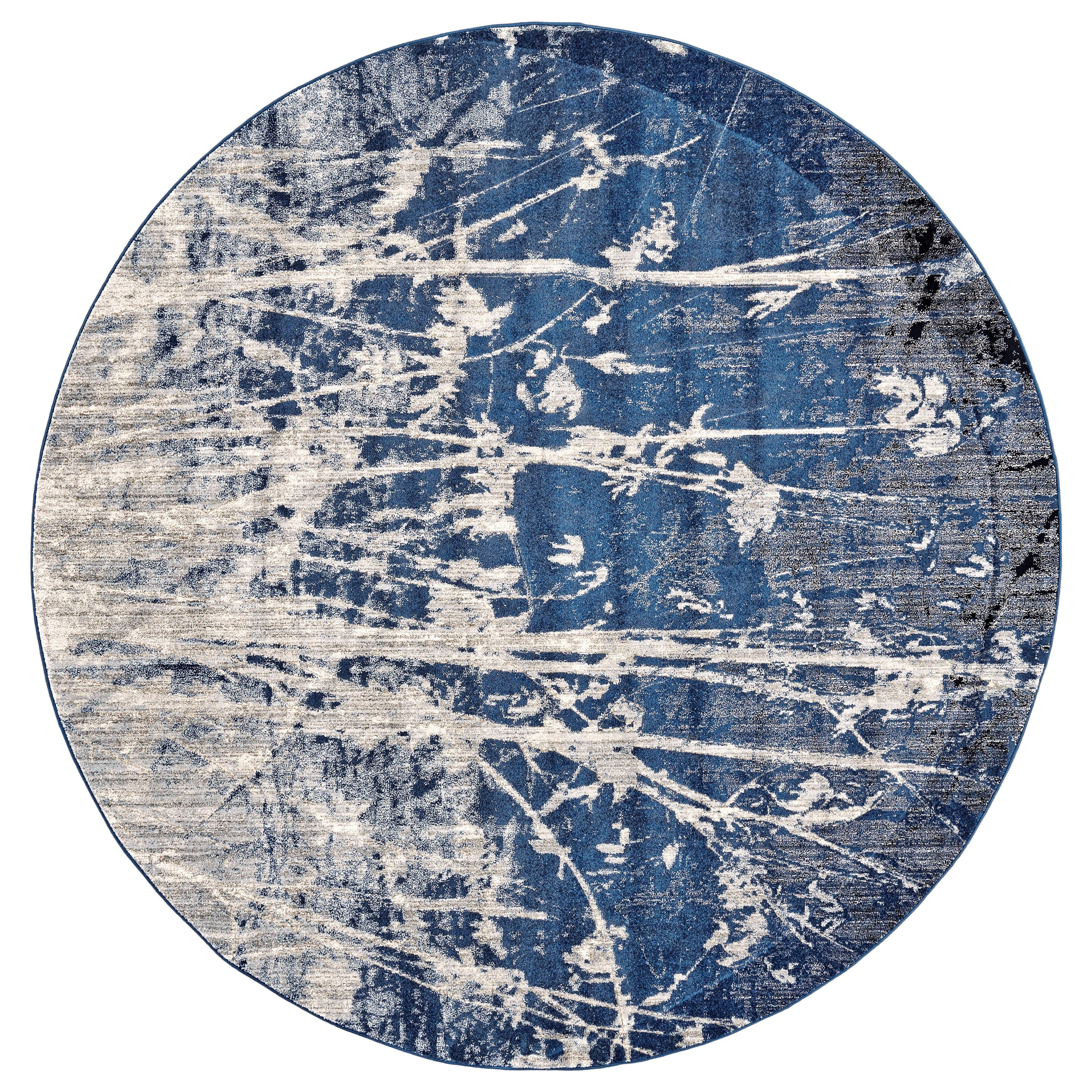 "Milton Atlantic 8'-9"" X 8'-9"" Round Area Rug by Feizy Rugs at Sprintz Furniture"