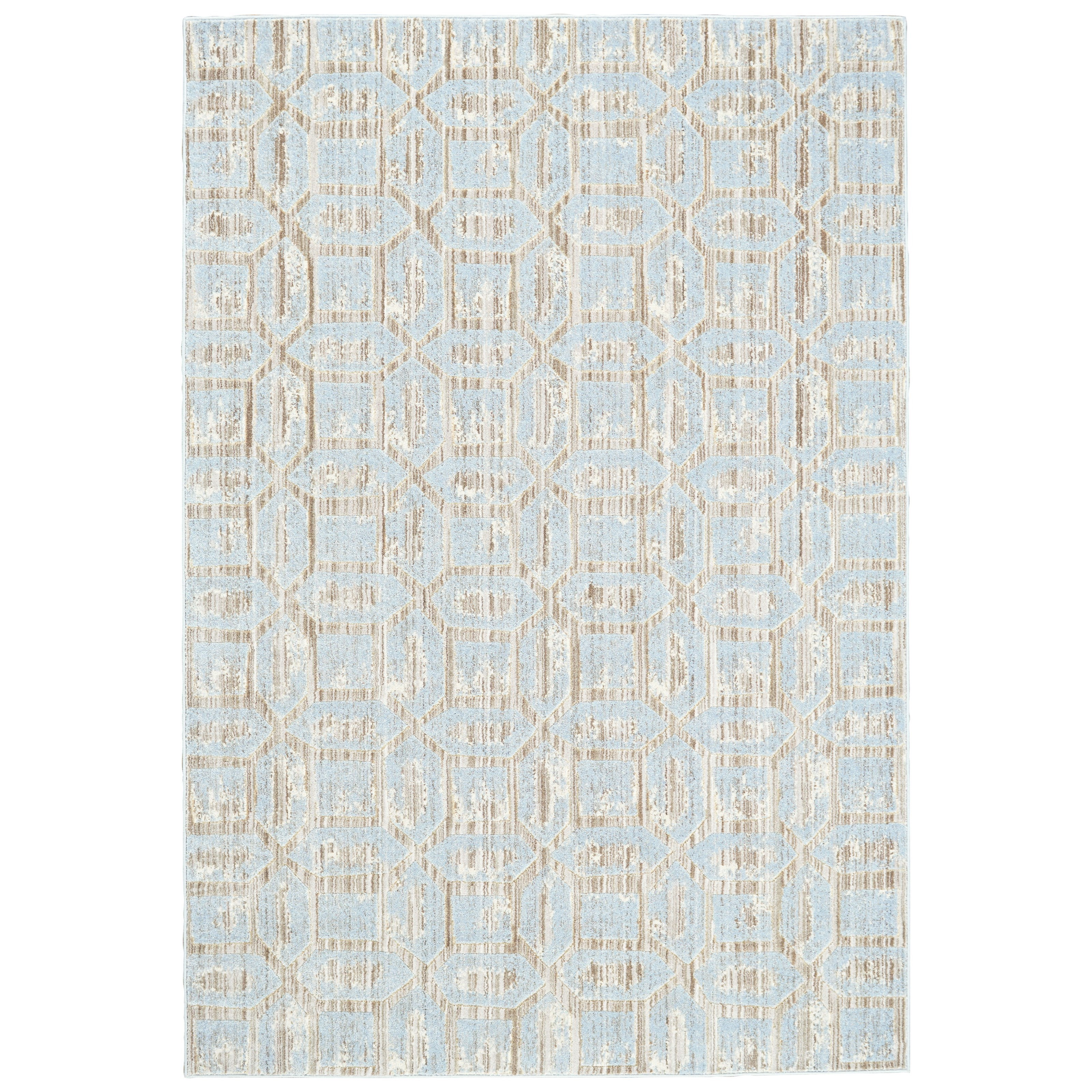 """Milton Ice 2'-7"""" x 8' Runner Rug by Feizy Rugs at Sprintz Furniture"""