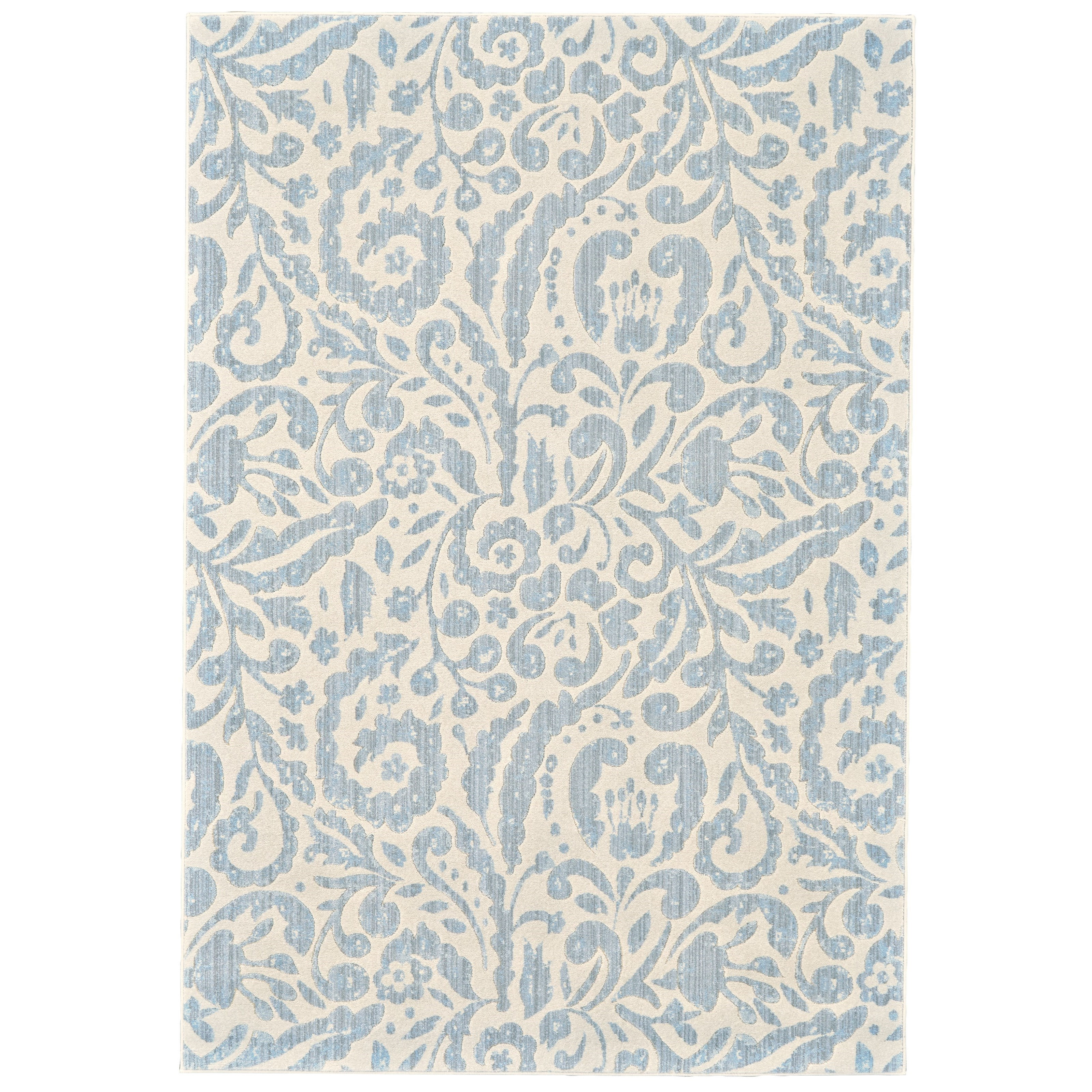 """Milton Mist 5'-3"""" X 7'-6"""" Area Rug by Feizy Rugs at Jacksonville Furniture Mart"""