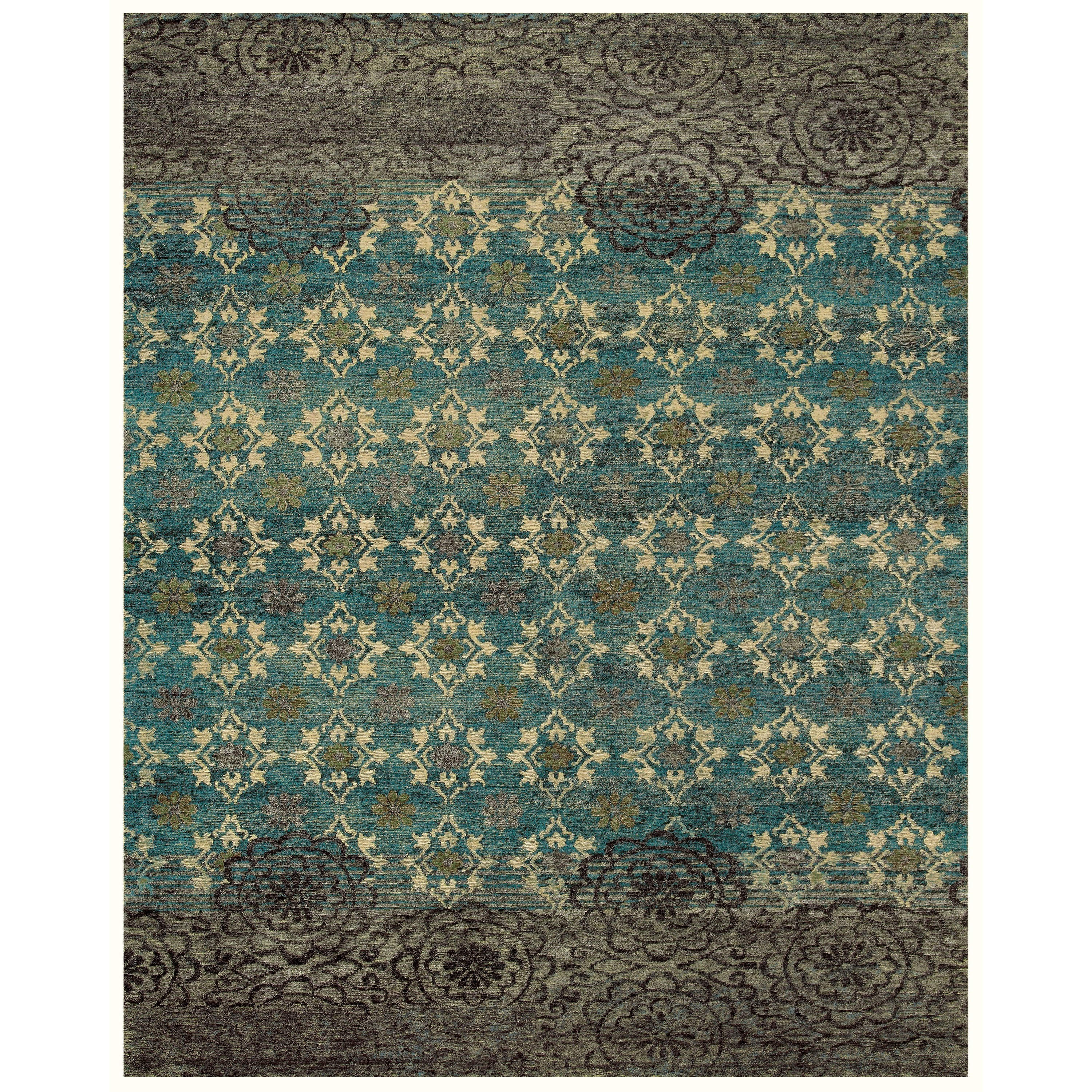 Qing Silver Sage 4' x 6' Area Rug by Feizy Rugs at Sprintz Furniture