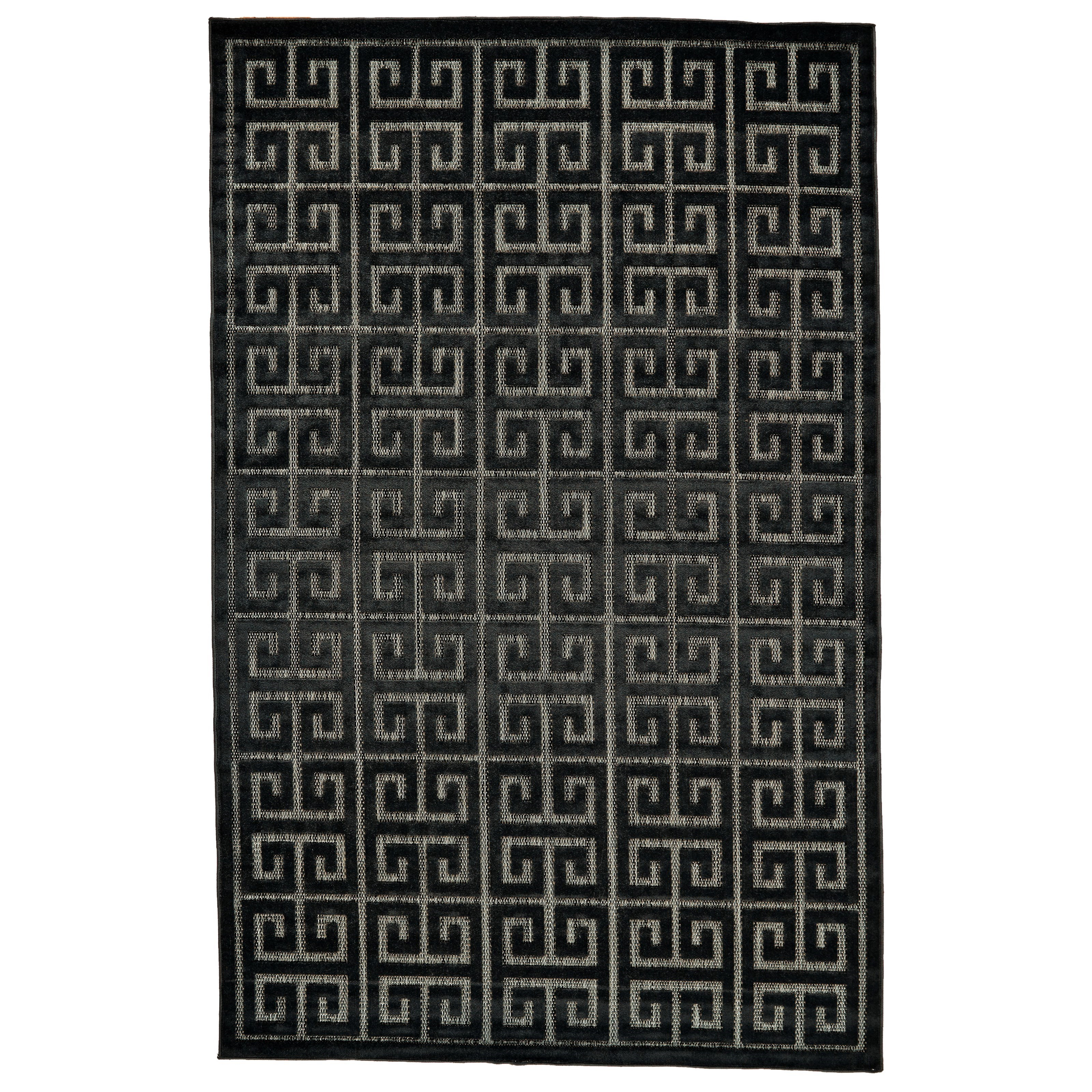 """Raphia II Black/Charcoal 2'-1"""" X 4' Area Rug by Feizy Rugs at Sprintz Furniture"""