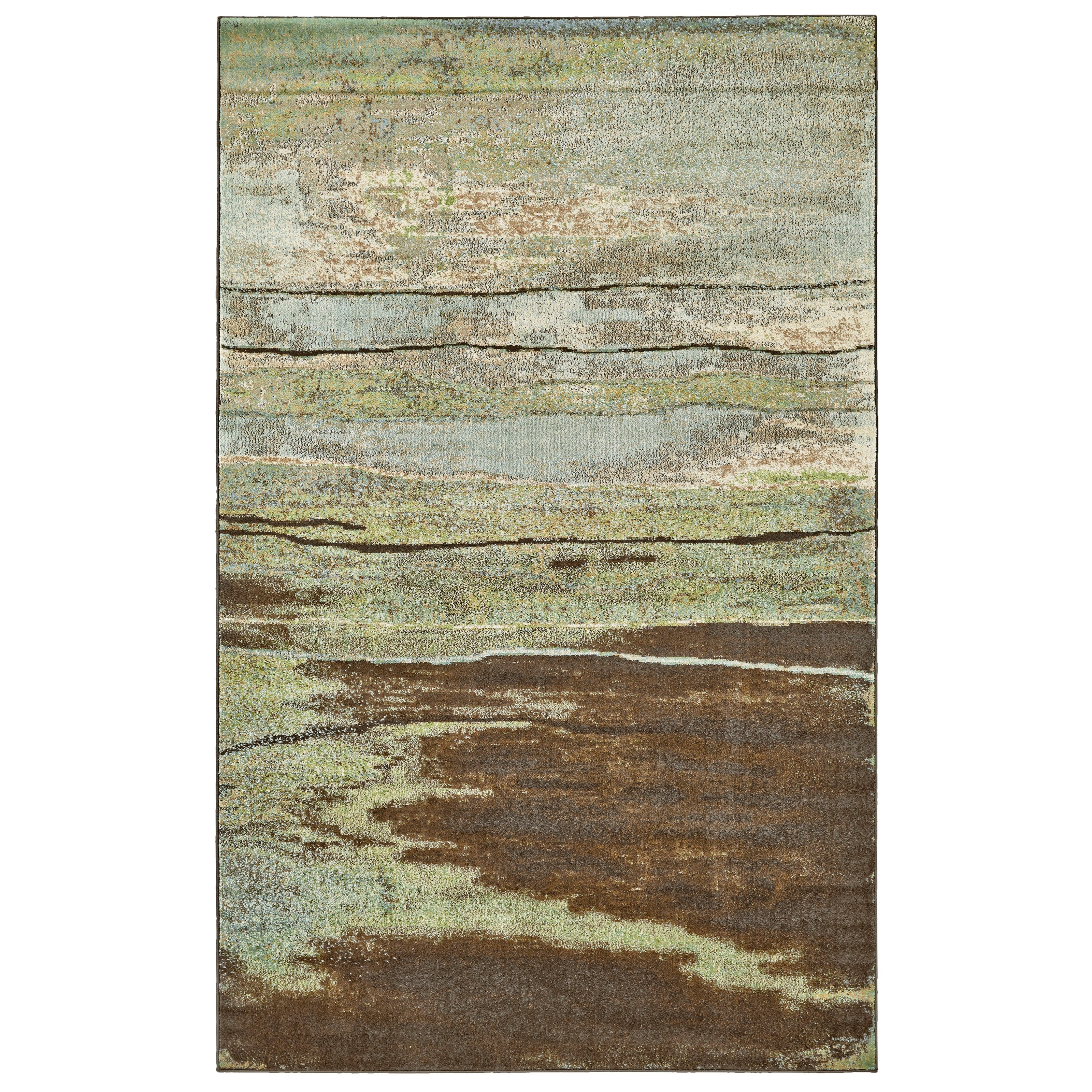 Rivington Chocolate 5' x 8' Area Rug by Feizy Rugs at Sprintz Furniture