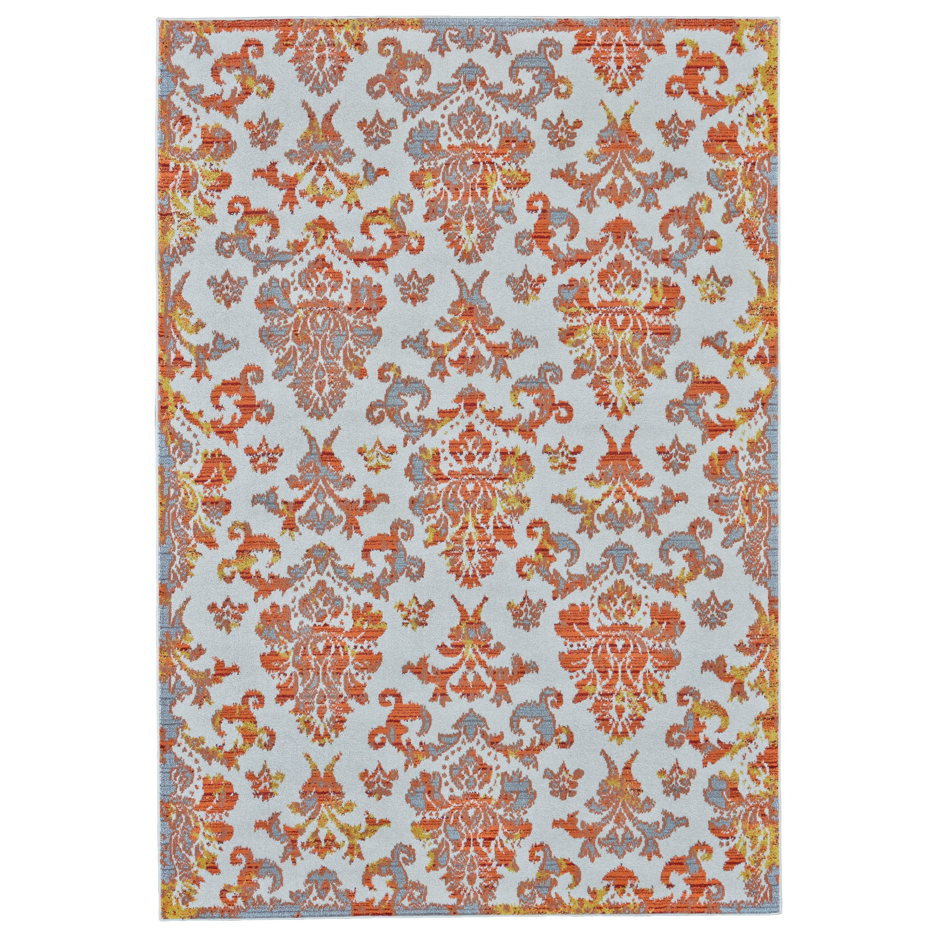 Samos Apricot 5' x 8' Area Rug by Feizy Rugs at Sprintz Furniture