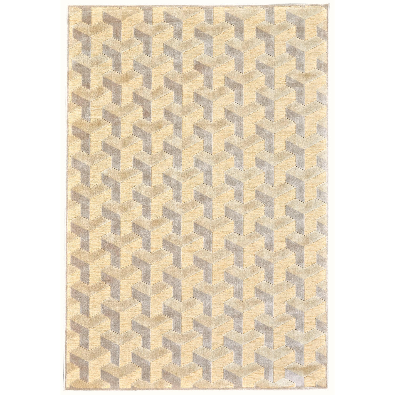 "Saphir Zam Cream/Silver 9'-8"" X 12'-7"" Area Rug by Feizy Rugs at Sprintz Furniture"