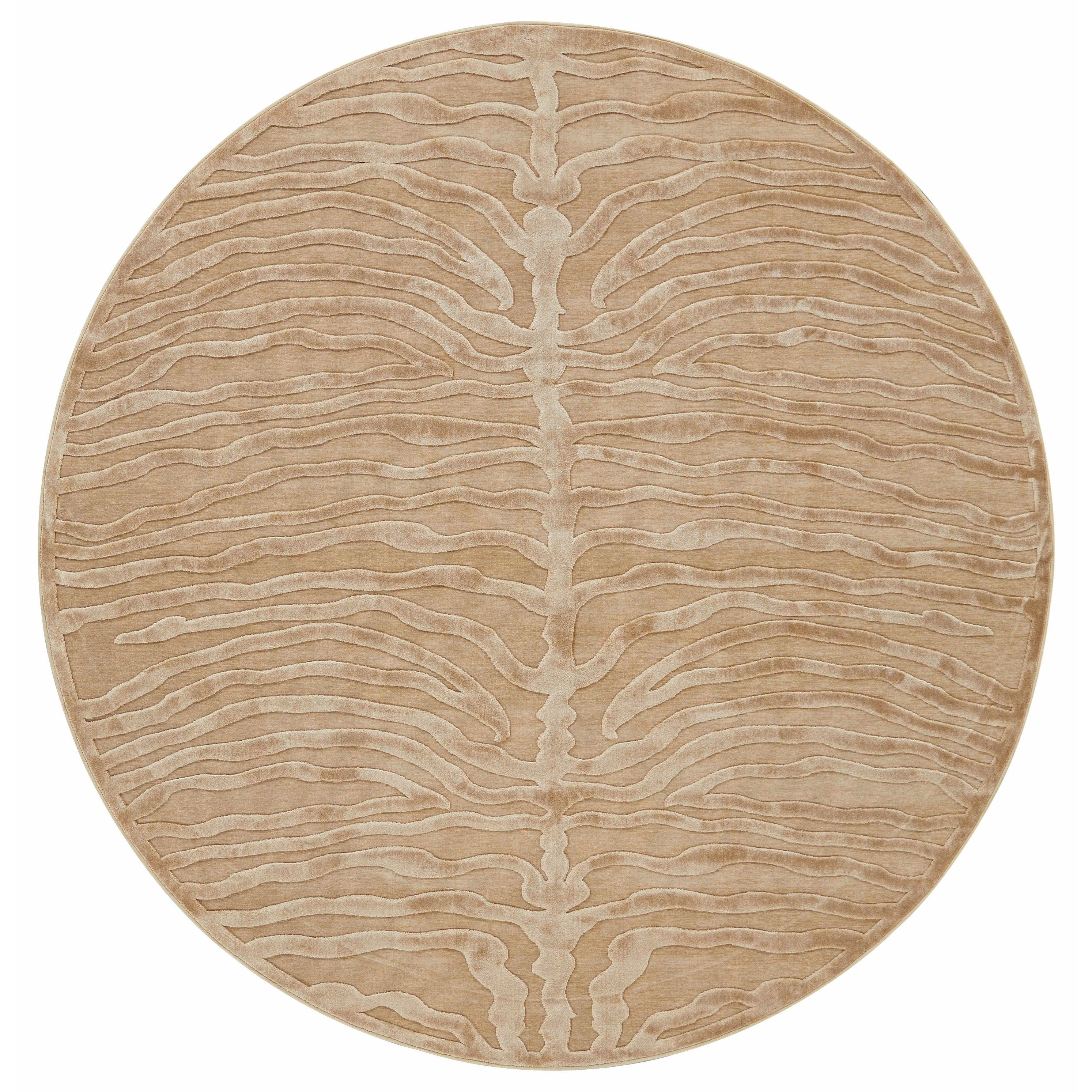 """Saphir Ivory 7'-6"""" X 7'-6"""" Round Area Rug by Feizy Rugs at Sprintz Furniture"""