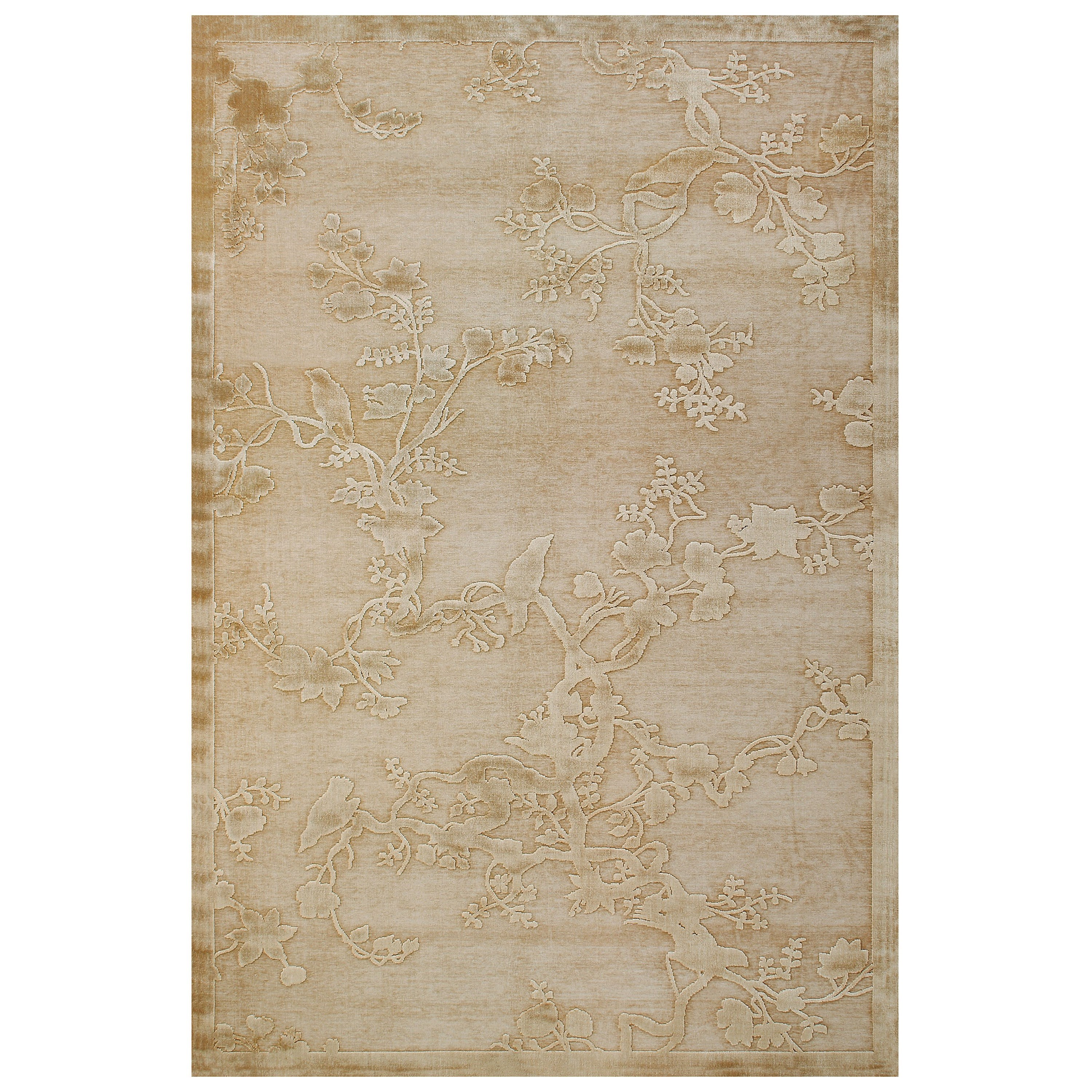 """Saphir Ivory 2'-2"""" x 4' Area Rug by Feizy Rugs at Sprintz Furniture"""