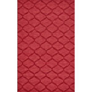 """Red 3'-6"""" x 5'-6"""" Area Rug"""