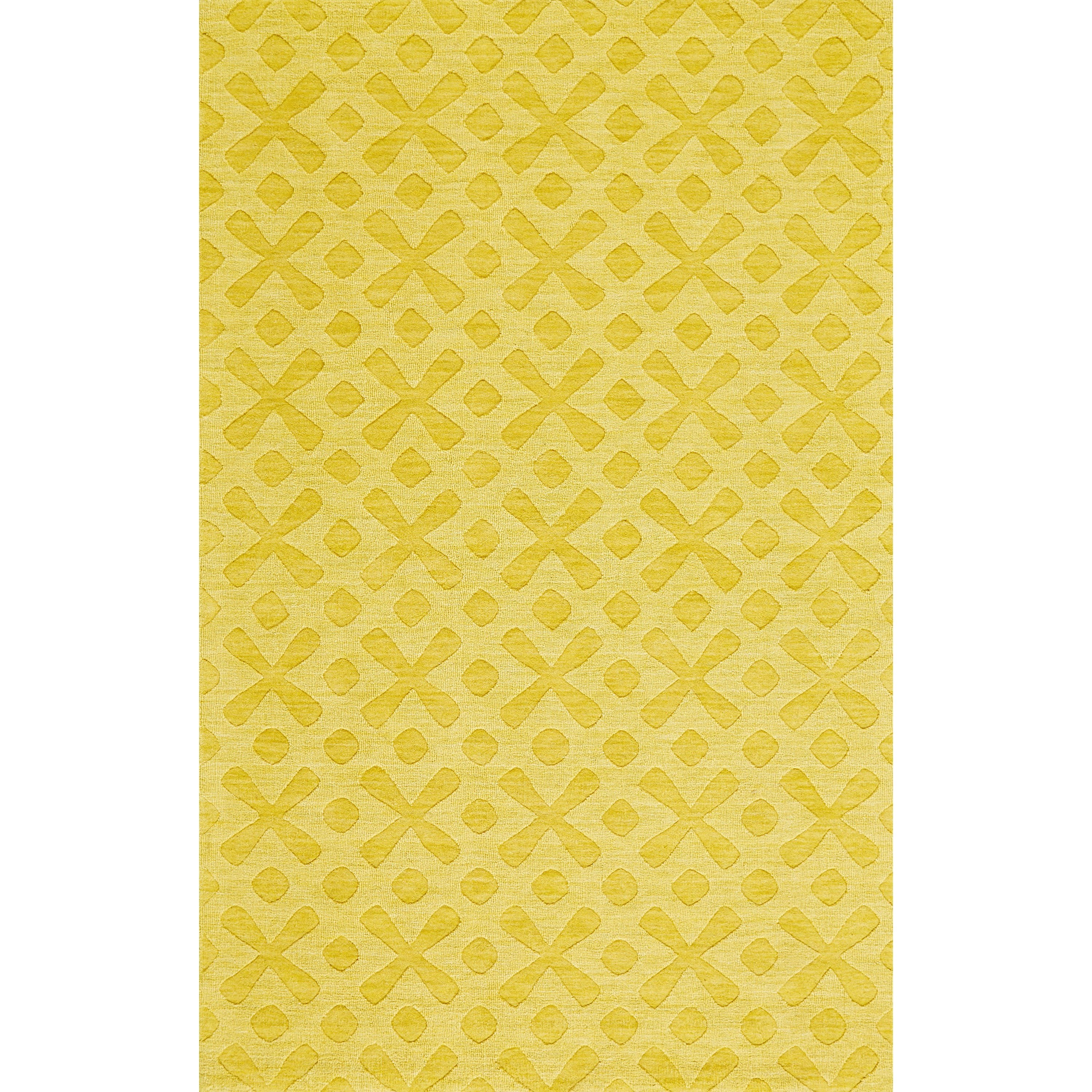 """Soma Yellow 2'-6"""" x 8' Runner Rug by Feizy Rugs at Sprintz Furniture"""