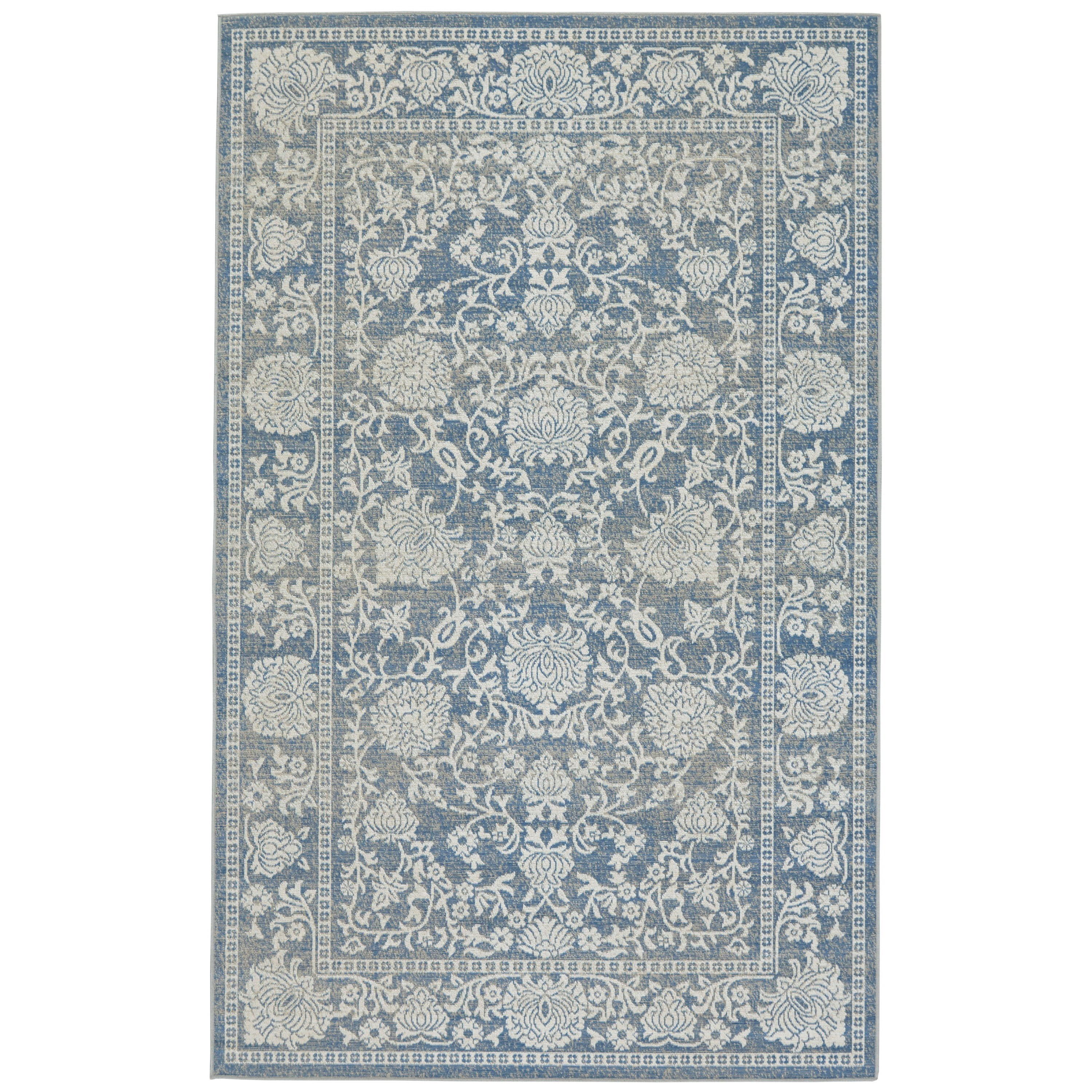 Thatcher Denim 5' x 8' Area Rug by Feizy Rugs at Sprintz Furniture