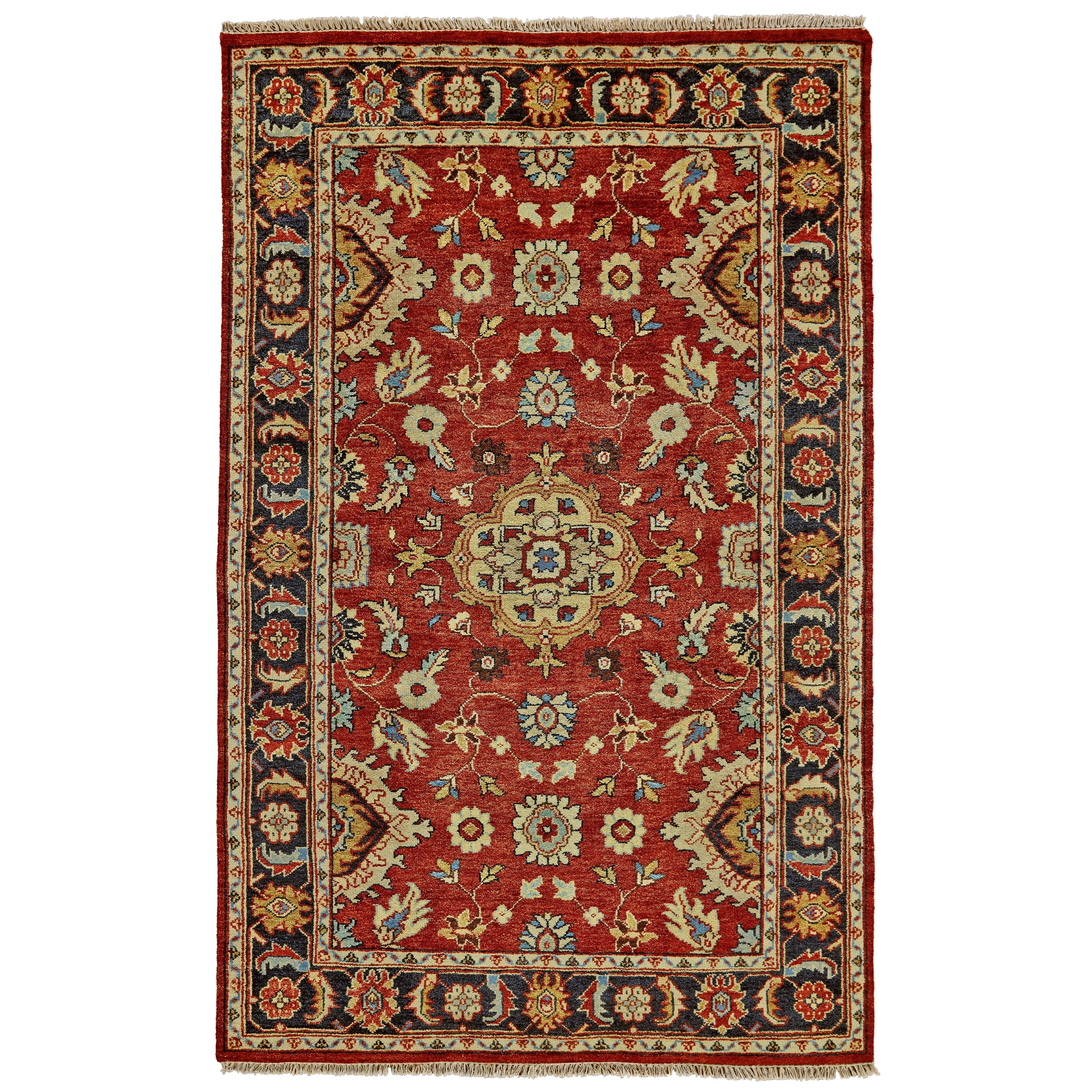 "Ustad Red/Black 8'-6"" x 11'-6"" Area Rug by Feizy Rugs at Sprintz Furniture"